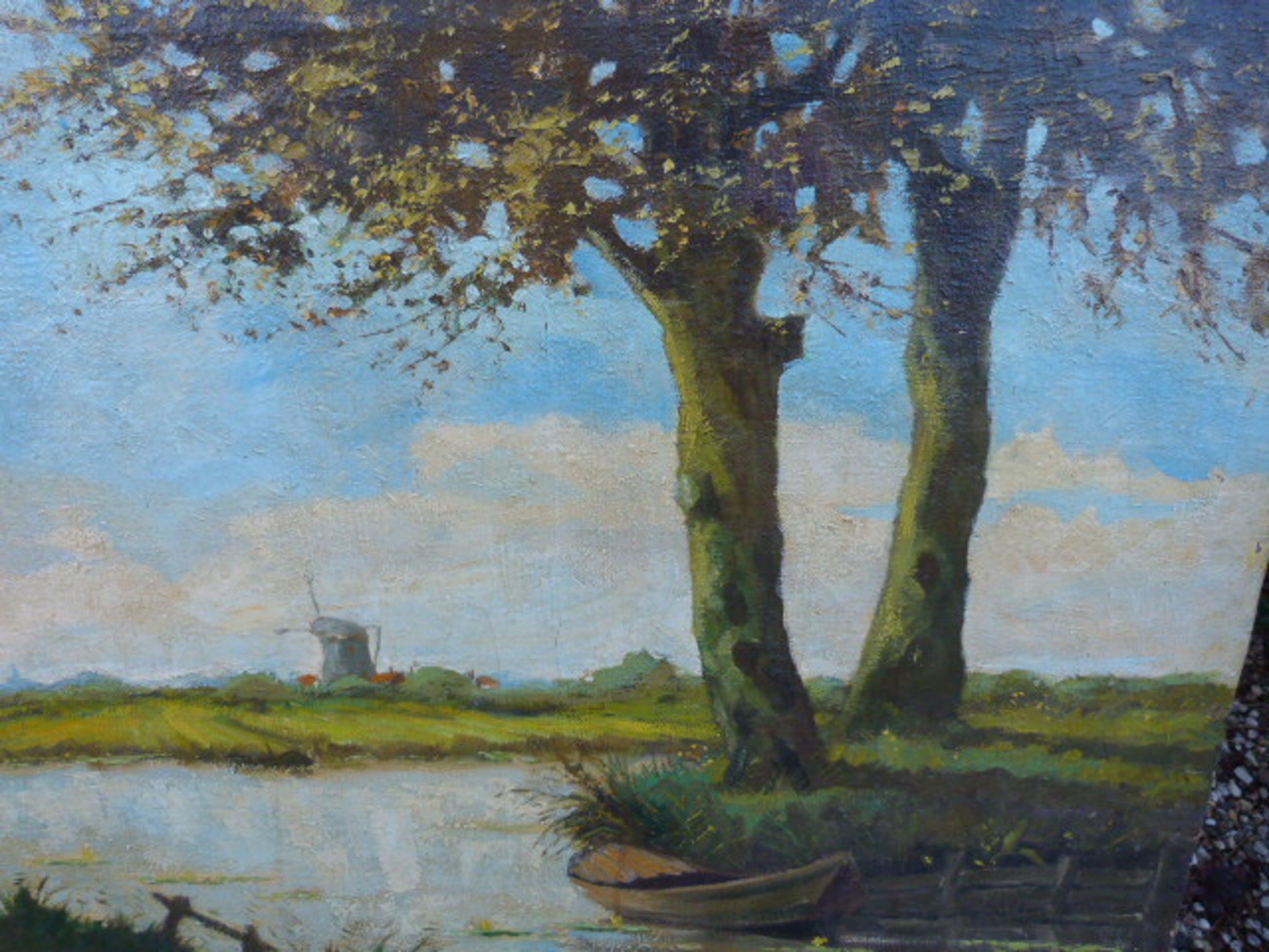 Roelof Wildeboer - Zomers Hollands landschap kopen? Bied vanaf 85!