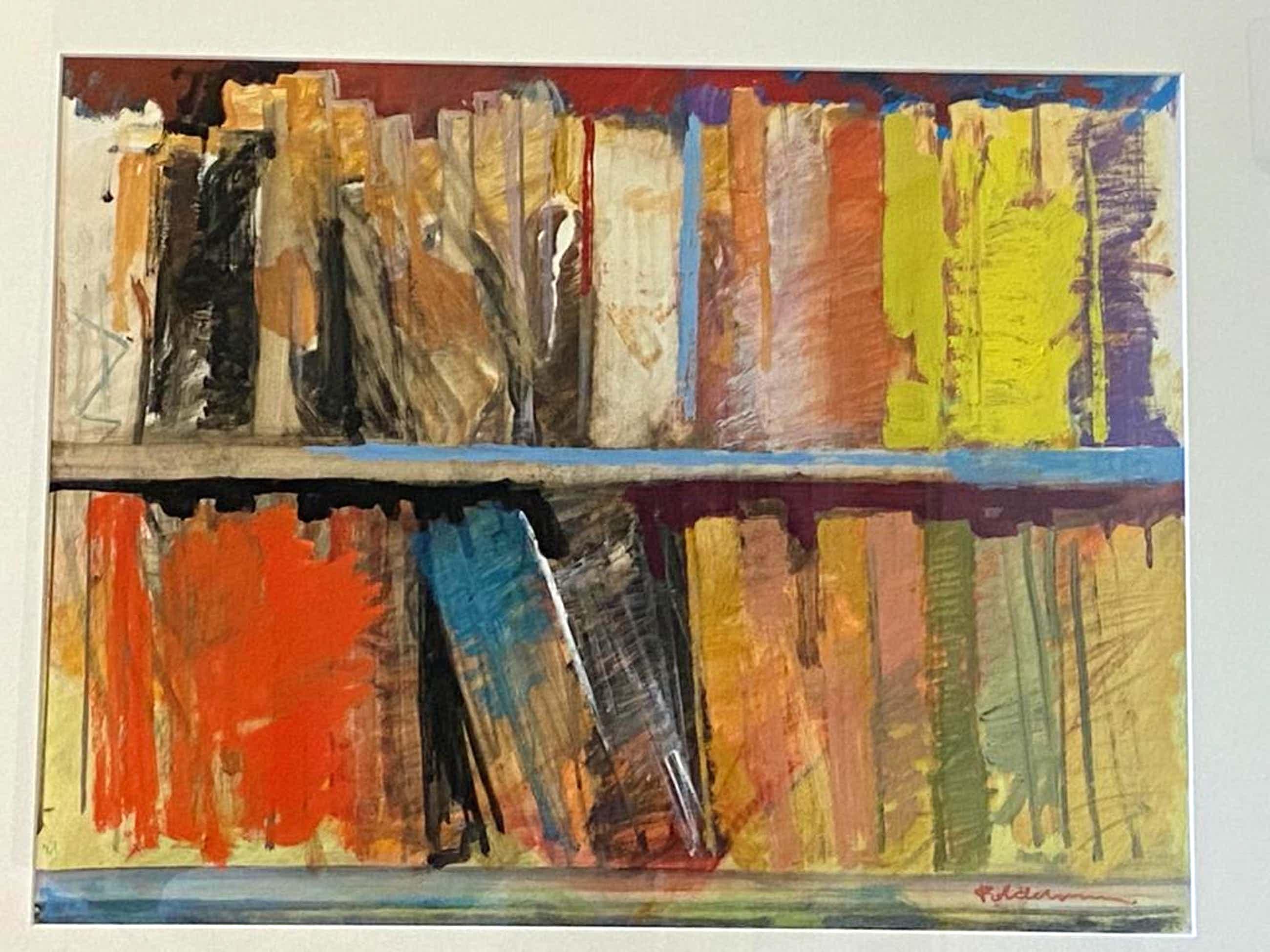 Peter Polderman - boekenkast kleurenstudie kopen? Bied vanaf 85!
