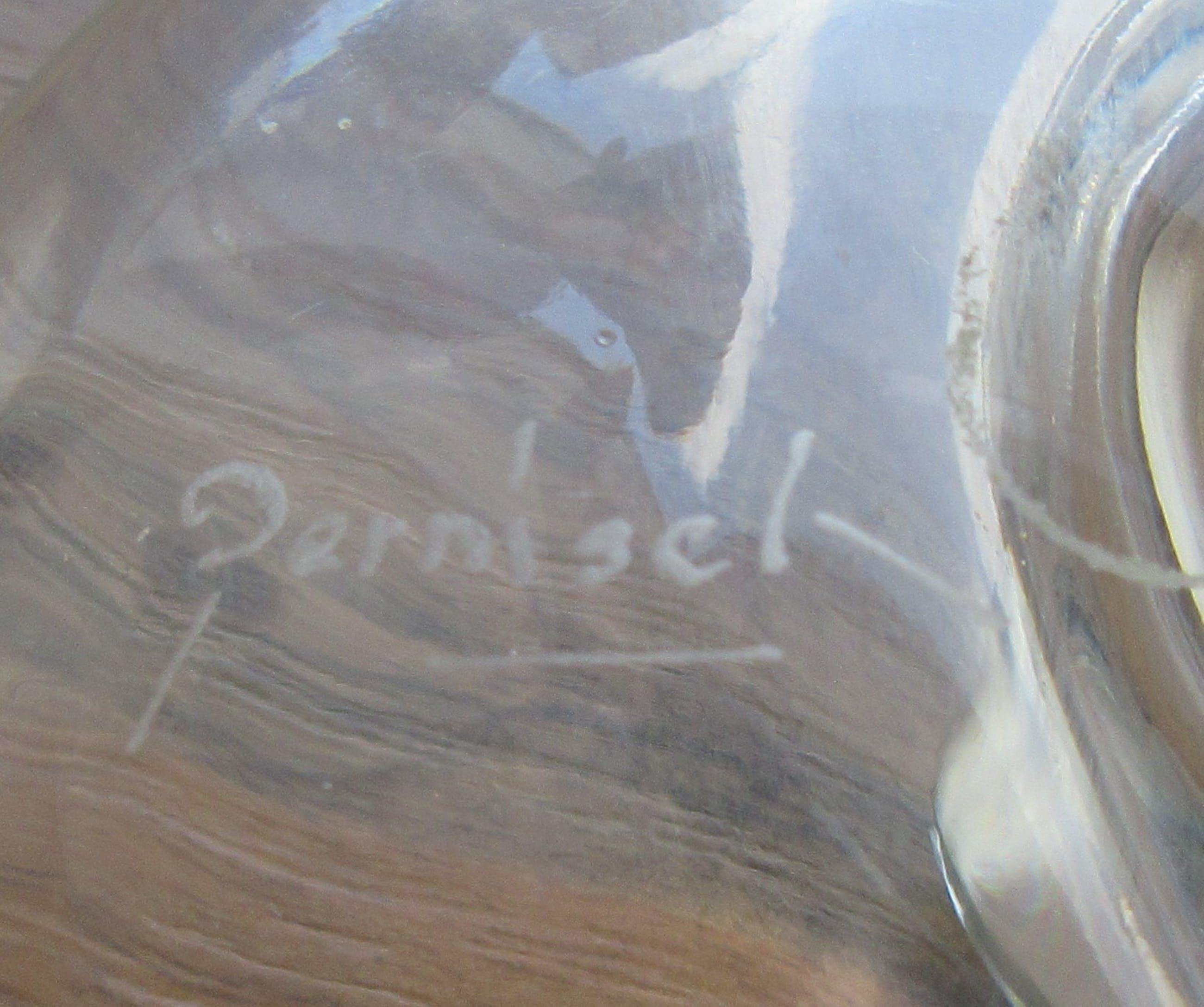 Niet of onleesbaar gesigneerd - Studio kristallen vrijgevormd schaaltje - gesigneerd kopen? Bied vanaf 1!