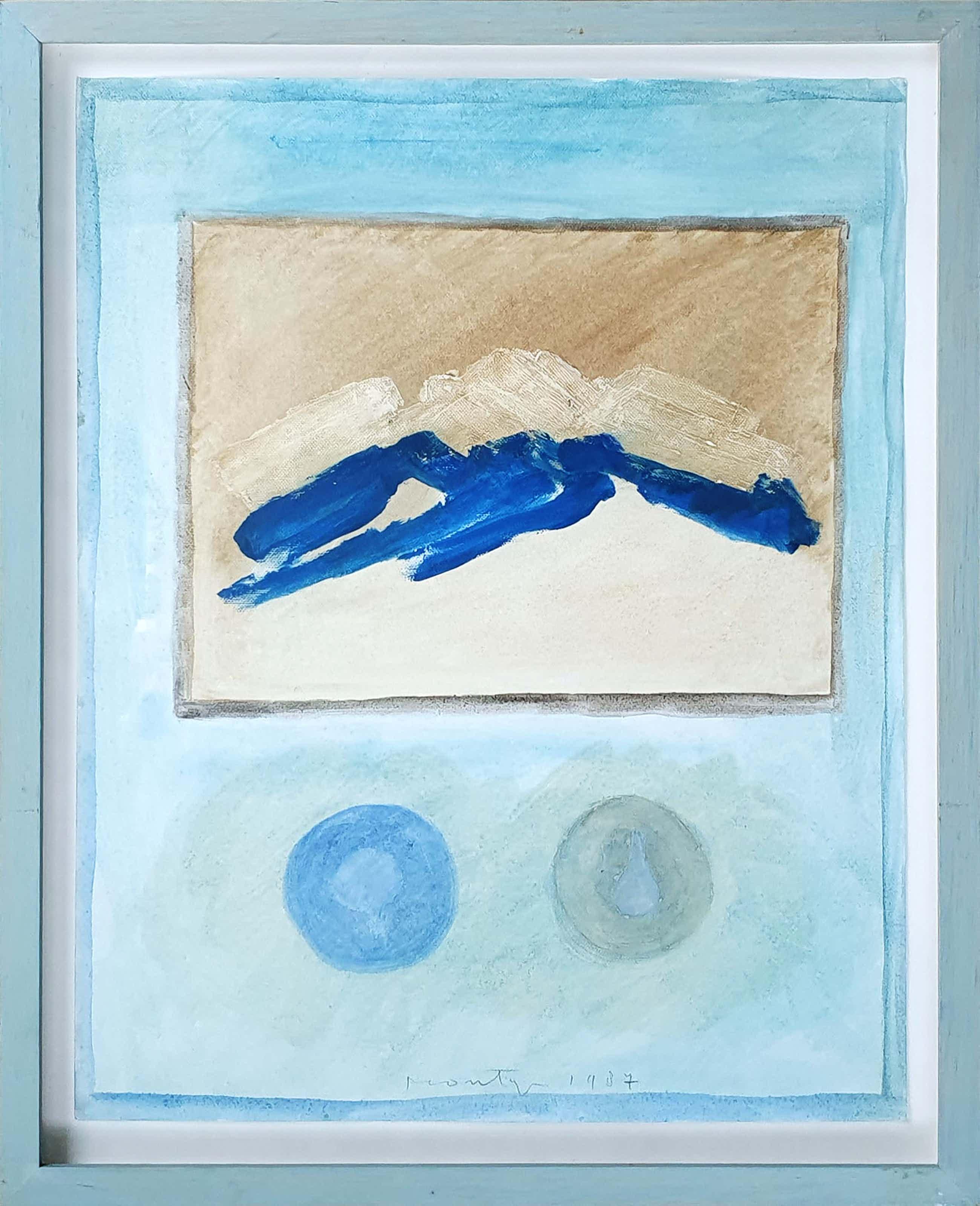 Jan Montyn - Abstracte compositie, - gemengde techniek (ingelijst) kopen? Bied vanaf 320!