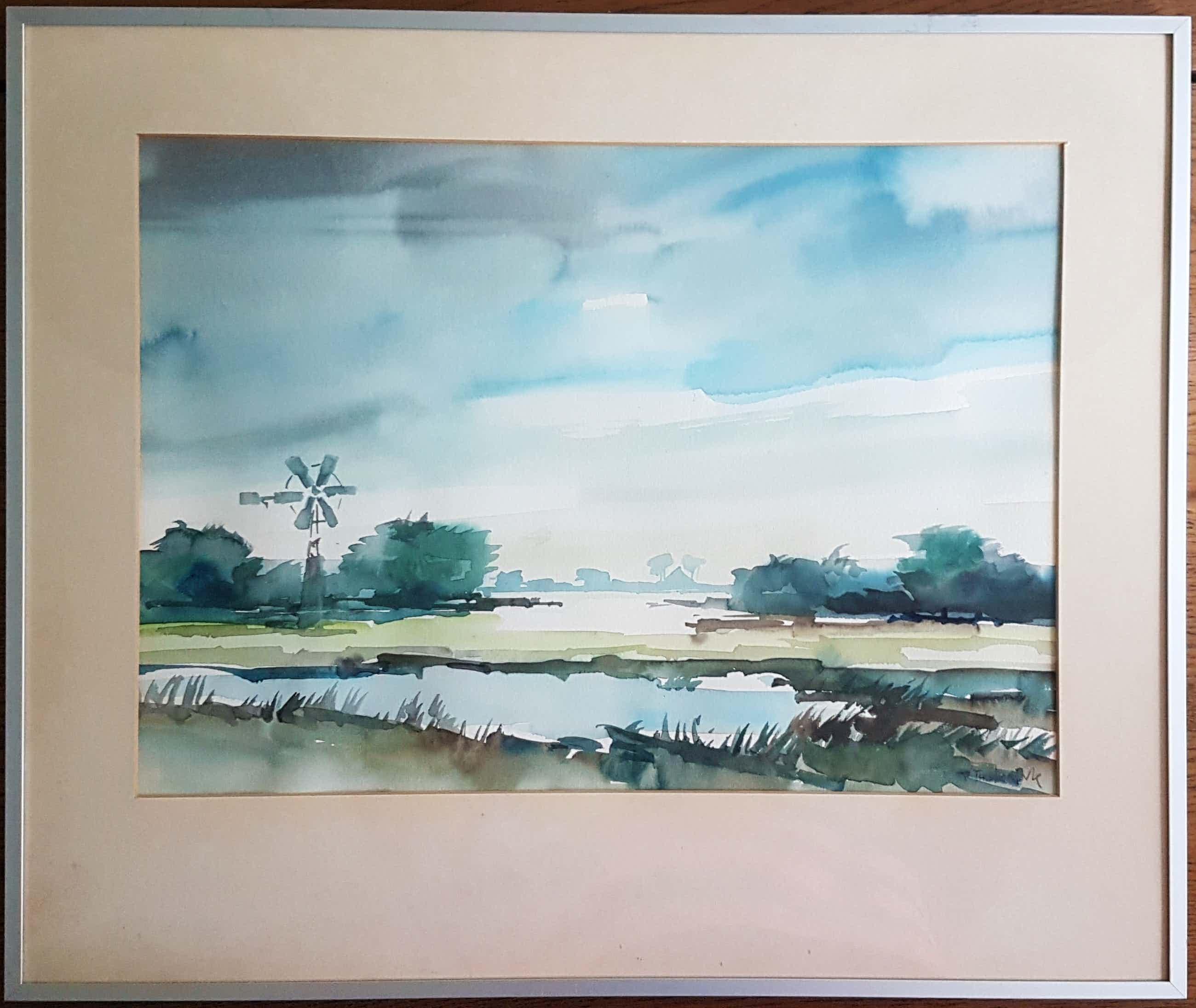 Bob Immink - Noord Hollands landschap kopen? Bied vanaf 56!