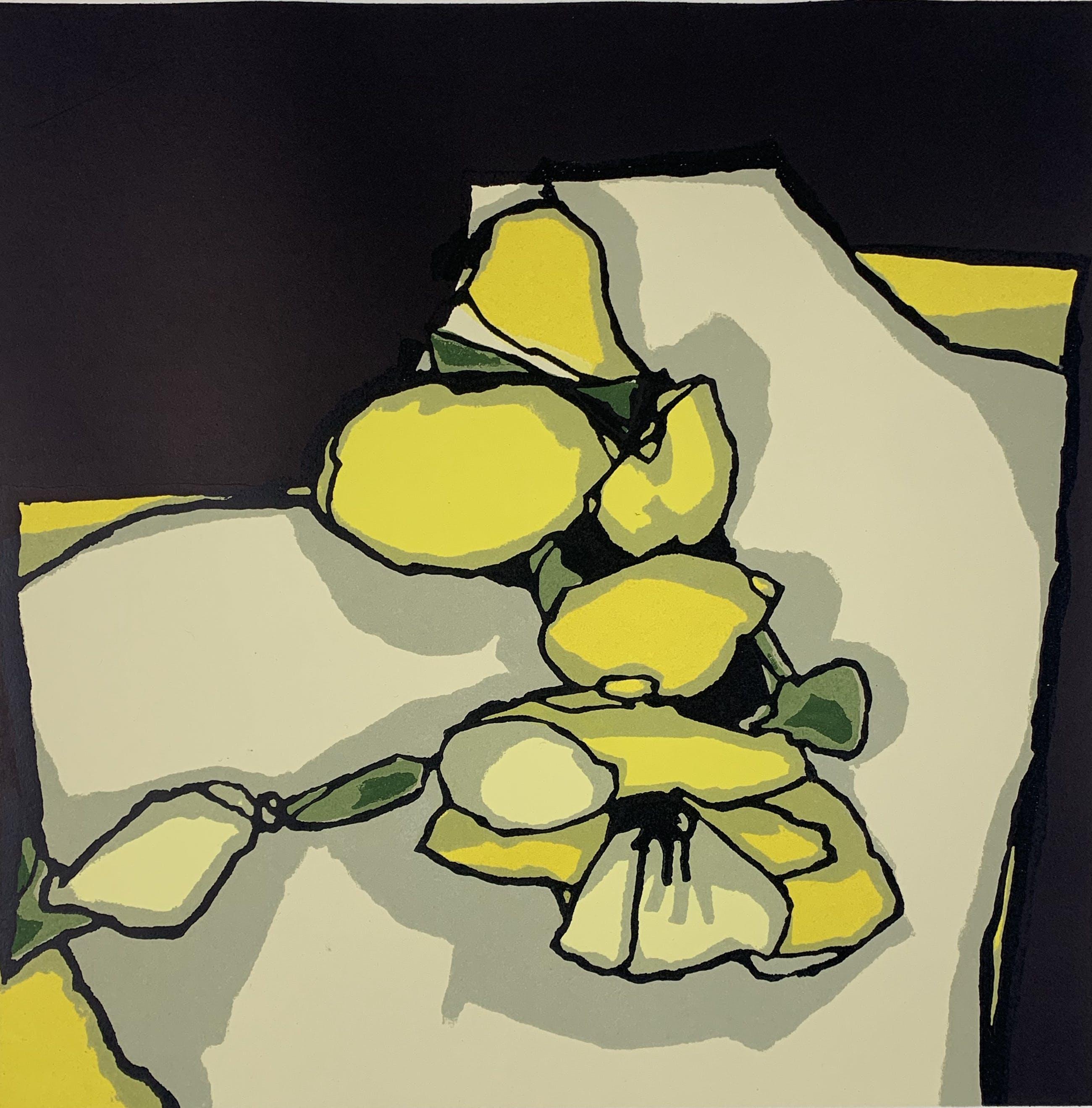 Fon Klement - boardsnede in kleur - 'Floraison' kopen? Bied vanaf 150!