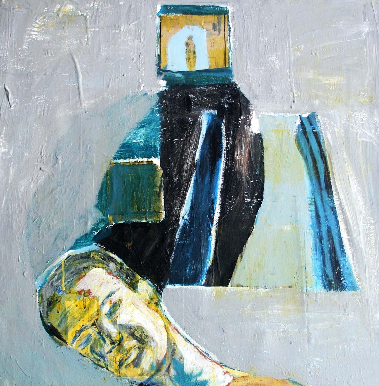 Jasper Krabbe - acryl op doek: denkend aan jou kopen? Bied vanaf 995!