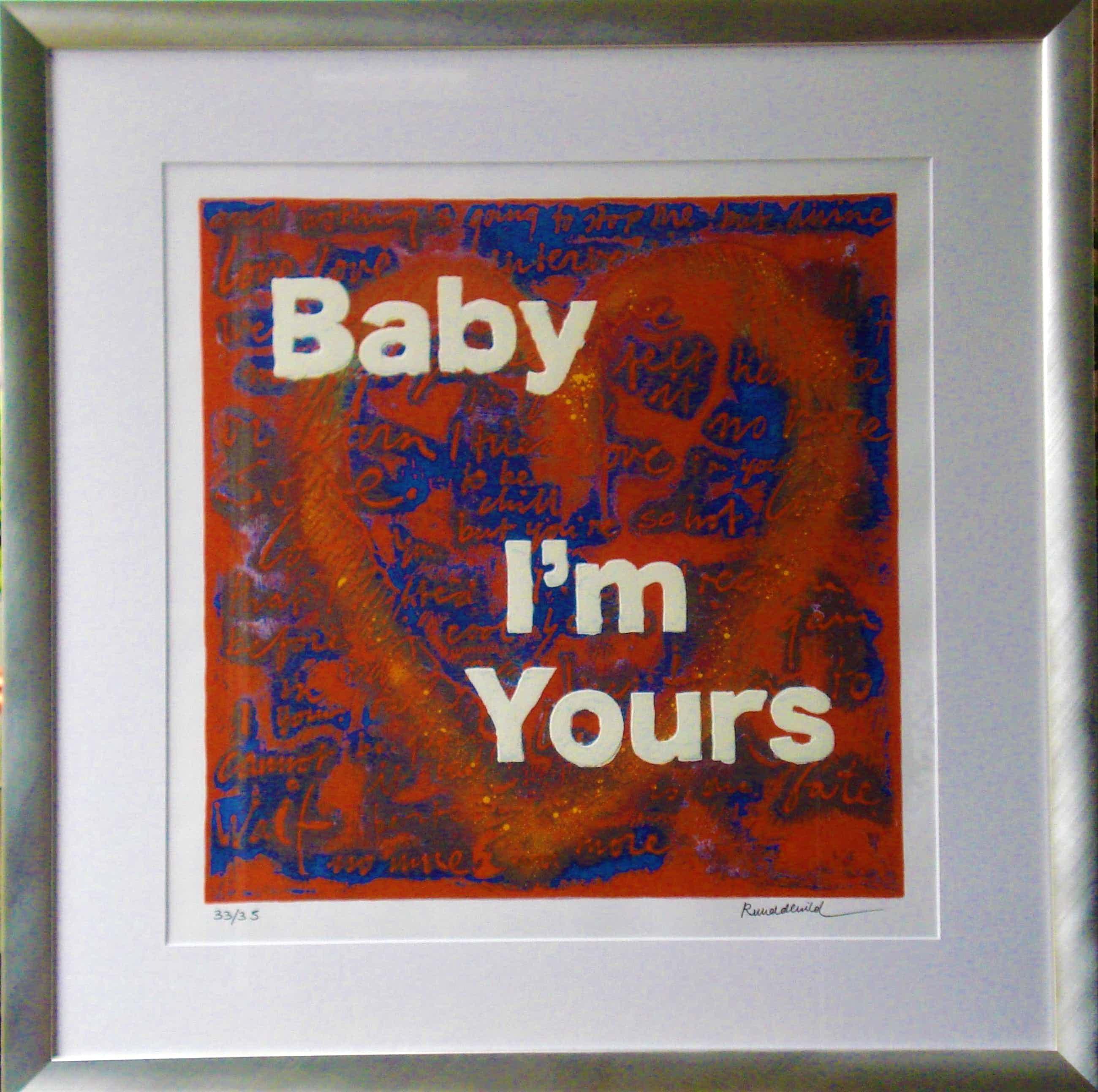 Ruud de Wild - Baby, I'm yours, zeer kleine oplage(magnifiek gelijst!) kopen? Bied vanaf 300!