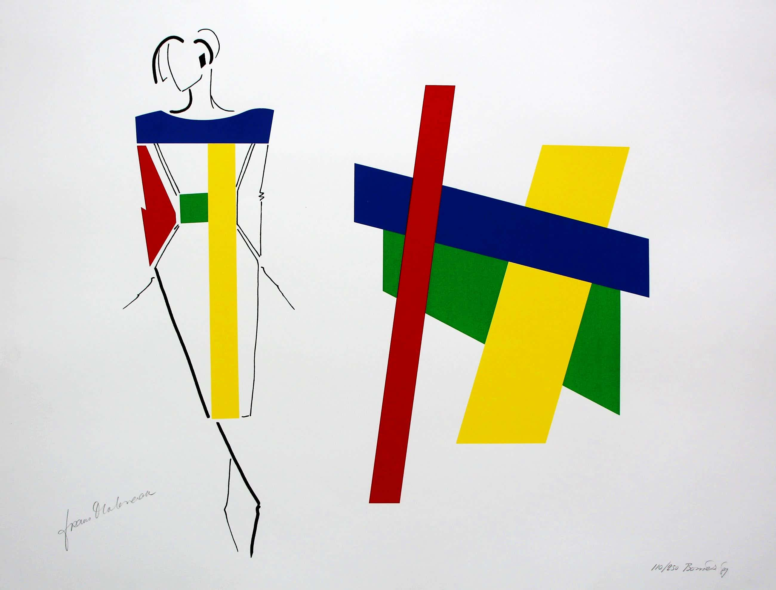 Bob Bonies - Zeefdruk in samenwerking met Frans Molenaar - 1989 kopen? Bied vanaf 100!