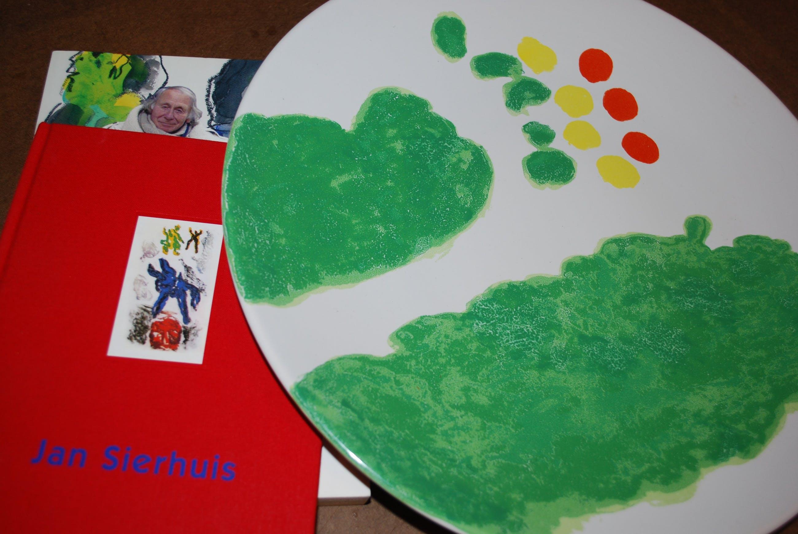 Jef Diederen - groot Makkum bord ﹠ 2 boeken Jan Sierhuis kopen? Bied vanaf 45!