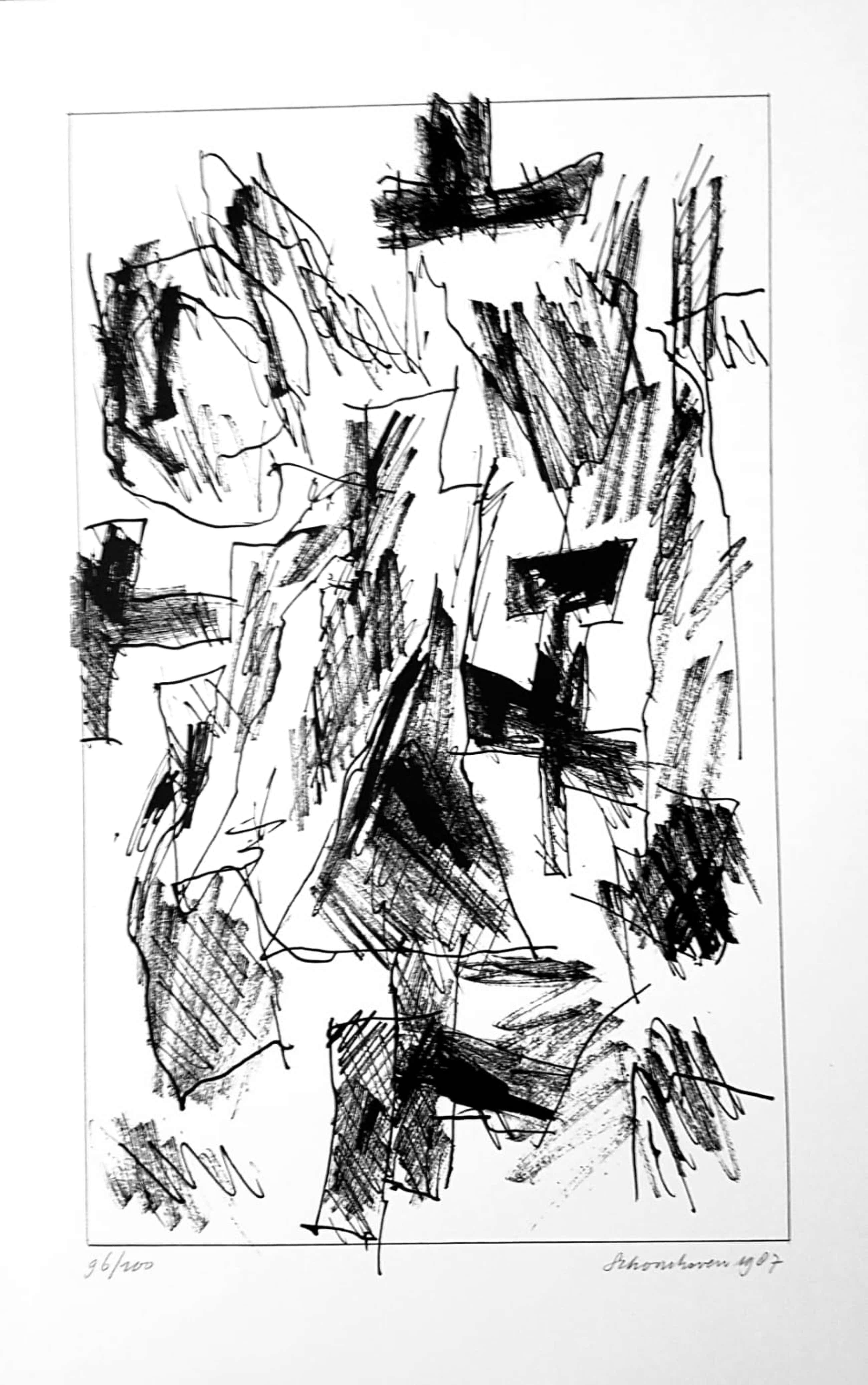 Jan Schoonhoven - (1914-1994)originele grote litho handgesigneerd,genummerd & gedateerd 1987 kopen? Bied vanaf 275!