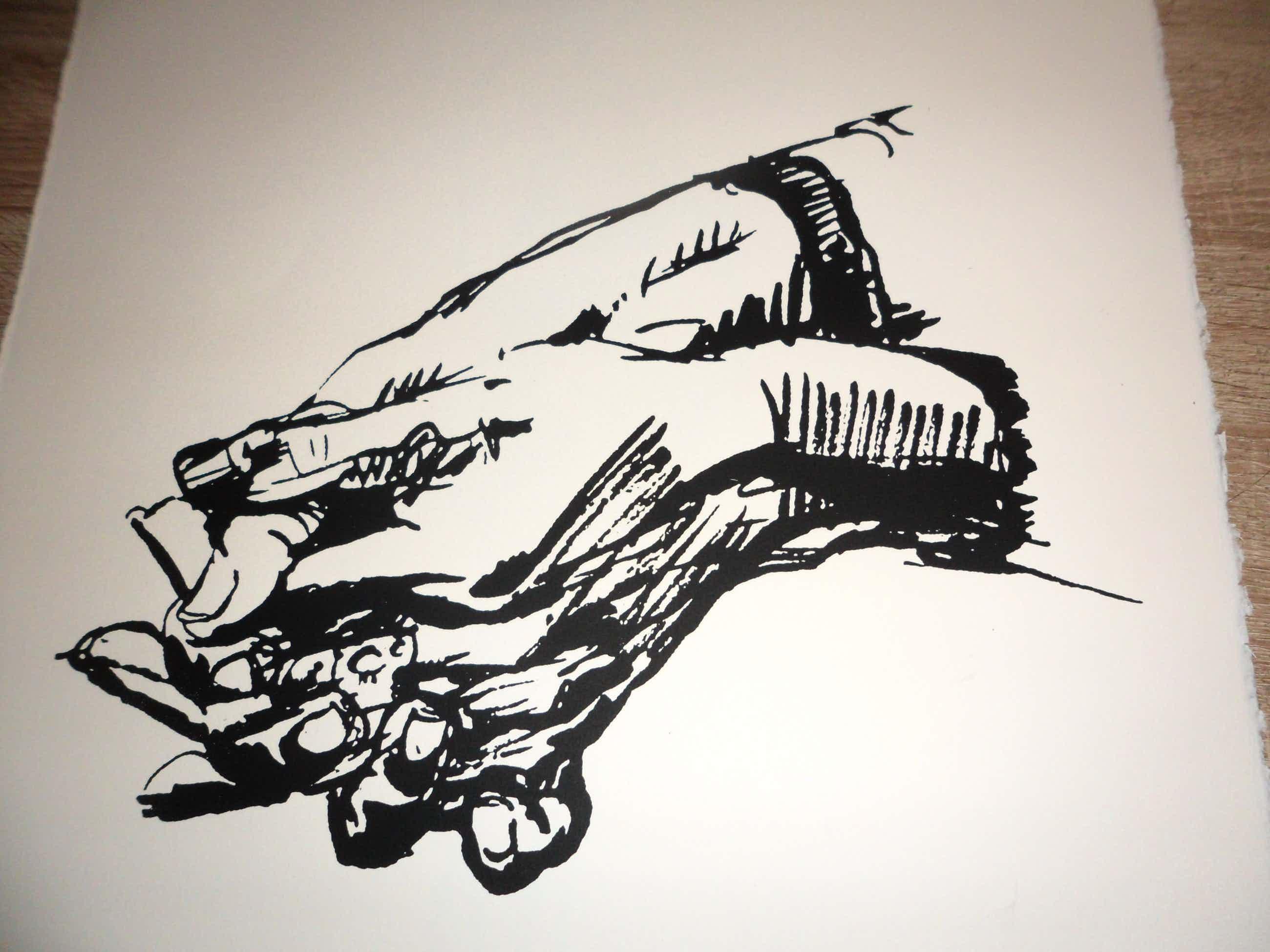 Peter Klashorst - Litho. Gevouwen handen. kopen? Bied vanaf 61!