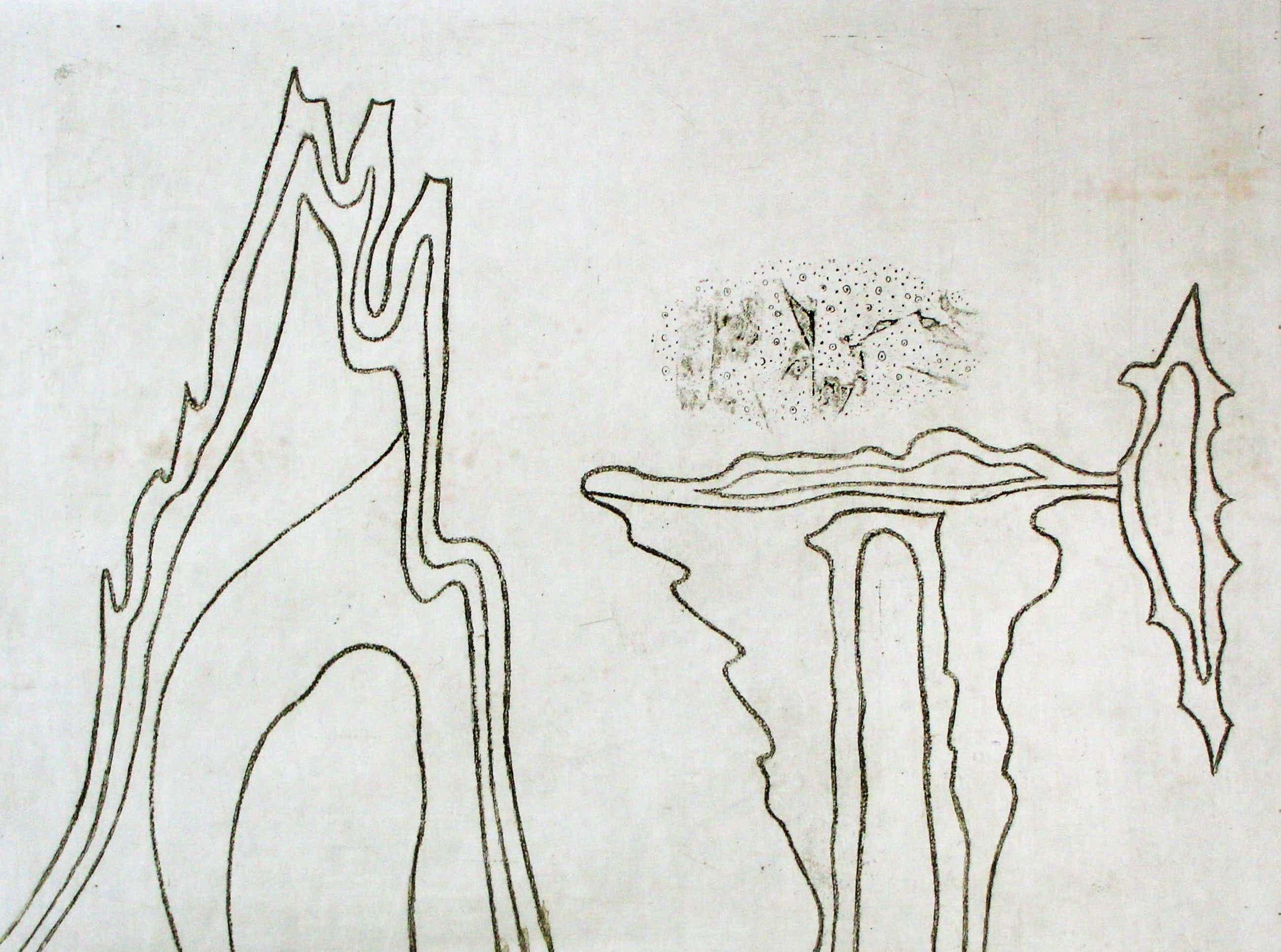 Wout van Heusden - Ets: abstract kopen? Bied vanaf 55!