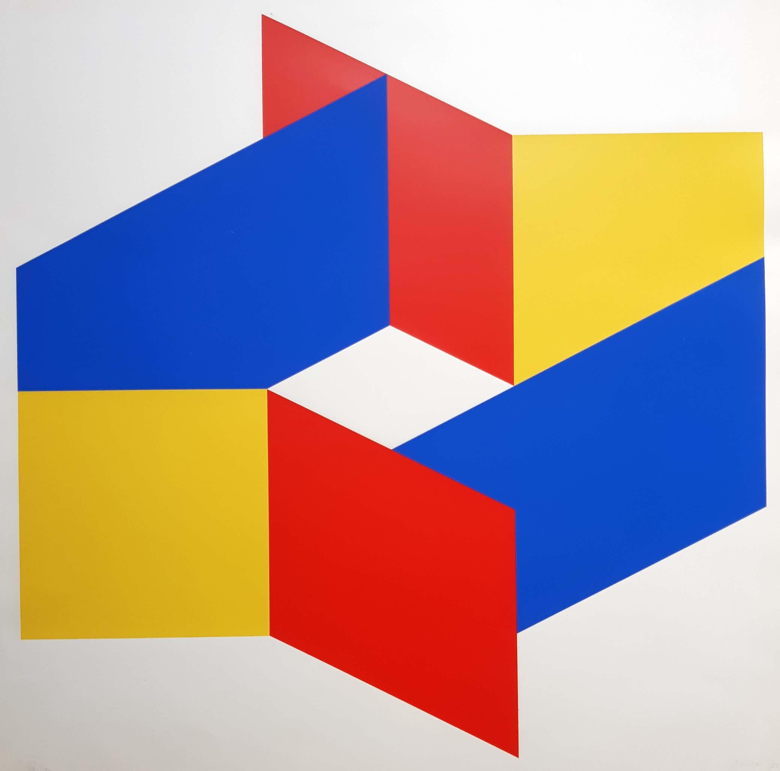 Bob Bonies - Abstractie compositie - Prent 190 kopen? Bied vanaf 120!