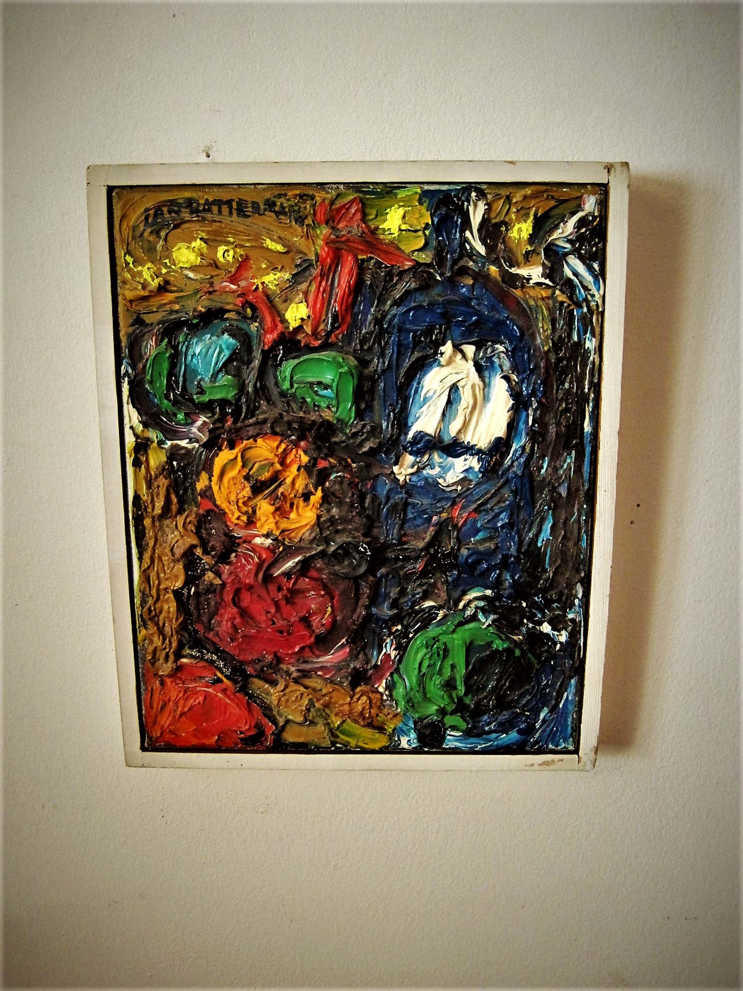 Jan Battermann - Krachtig Pasteus Abstract OLIEVERF 1957- Museum Fodor expositie- gesigneerd kopen? Bied vanaf 290!