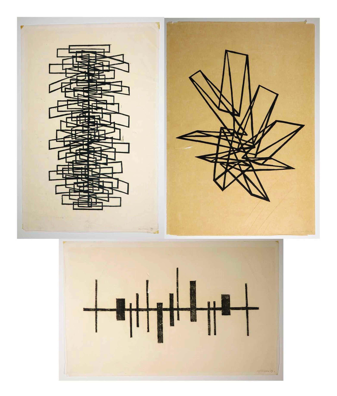 Carel Visser - Drie houtsnedes op zeer dun Japans papier in originele map (1959) kopen? Bied vanaf 369!