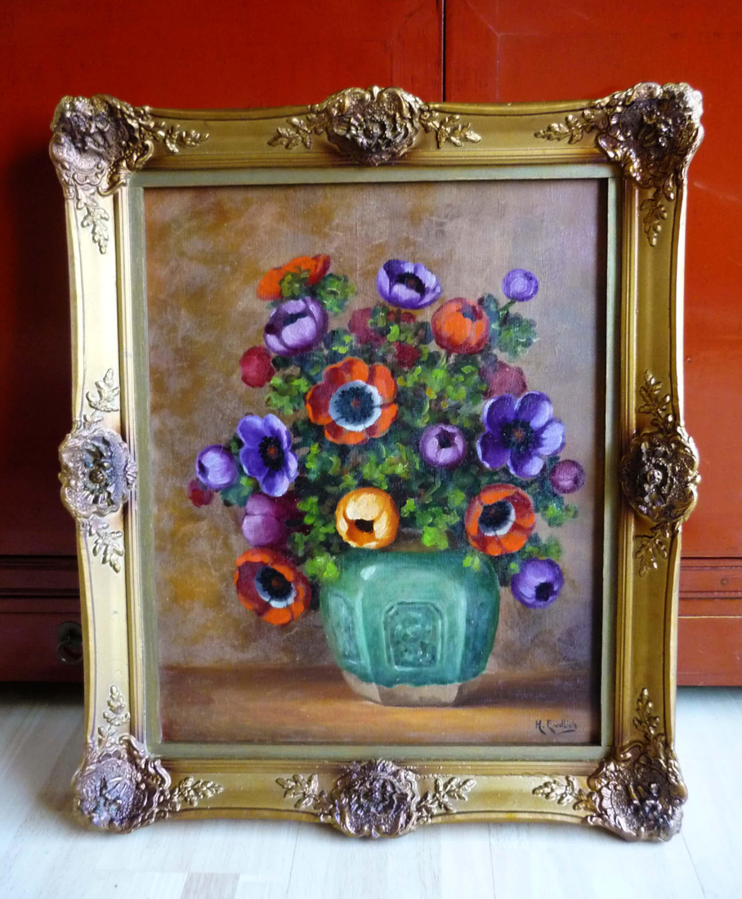 Henri Endlich - Bloemen stilleven anemonen kopen? Bied vanaf 80!