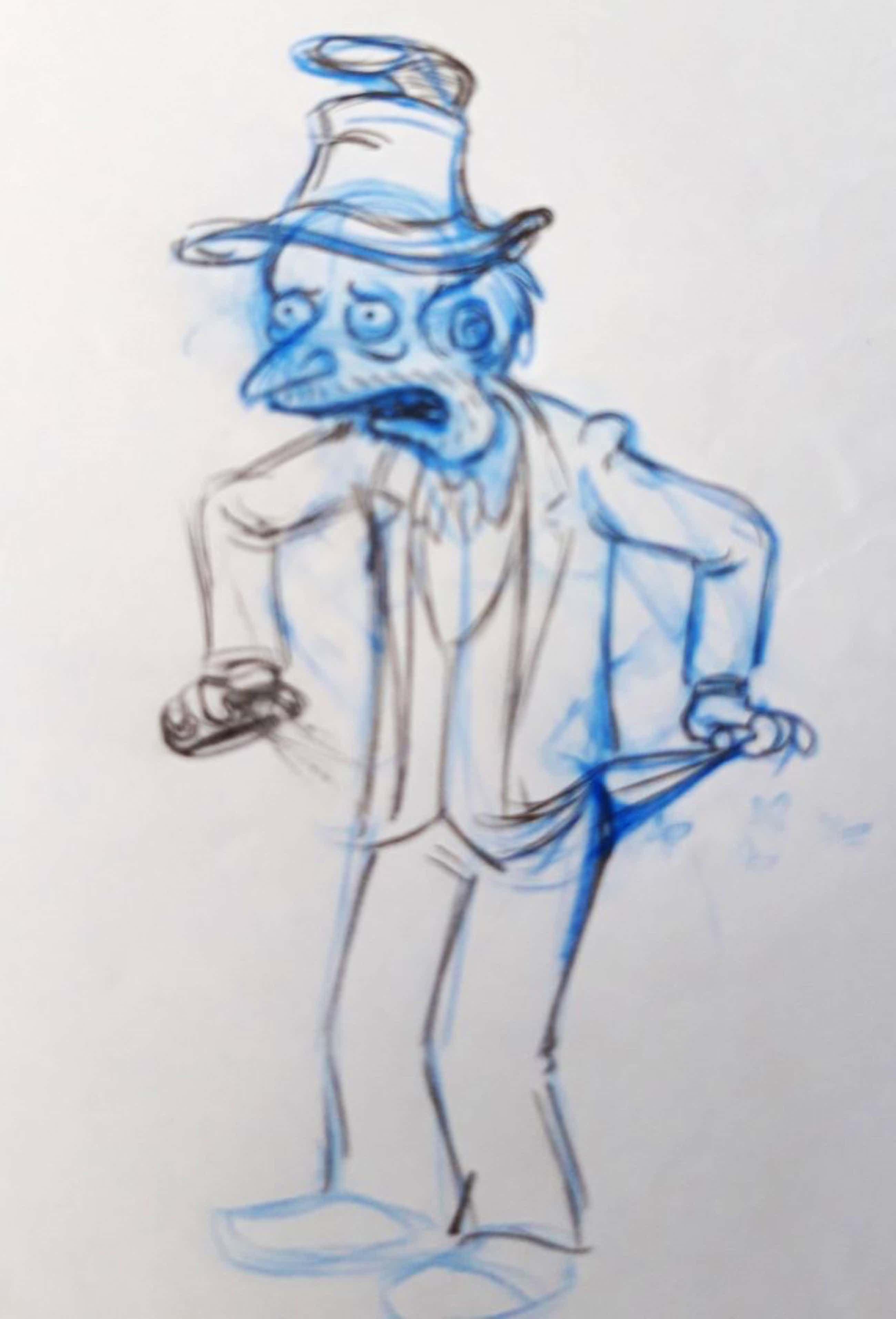Matt Groening - originele productie tekening, The Simpsons, Mister Burns, ingelijst kopen? Bied vanaf 56!