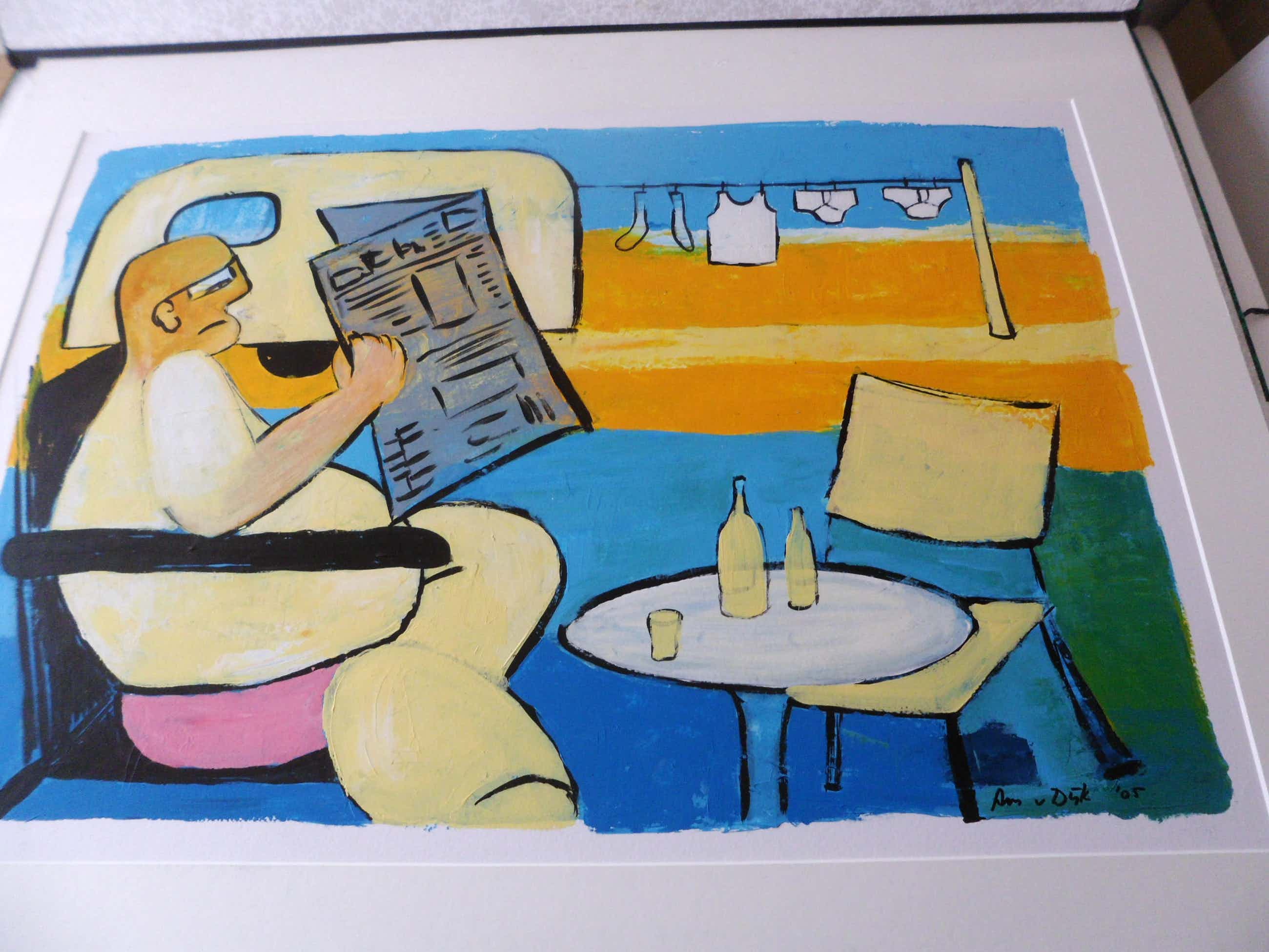 Ans van Dijk - Acryl op karton, zonder titel. Het werk is groot. kopen? Bied vanaf 60!