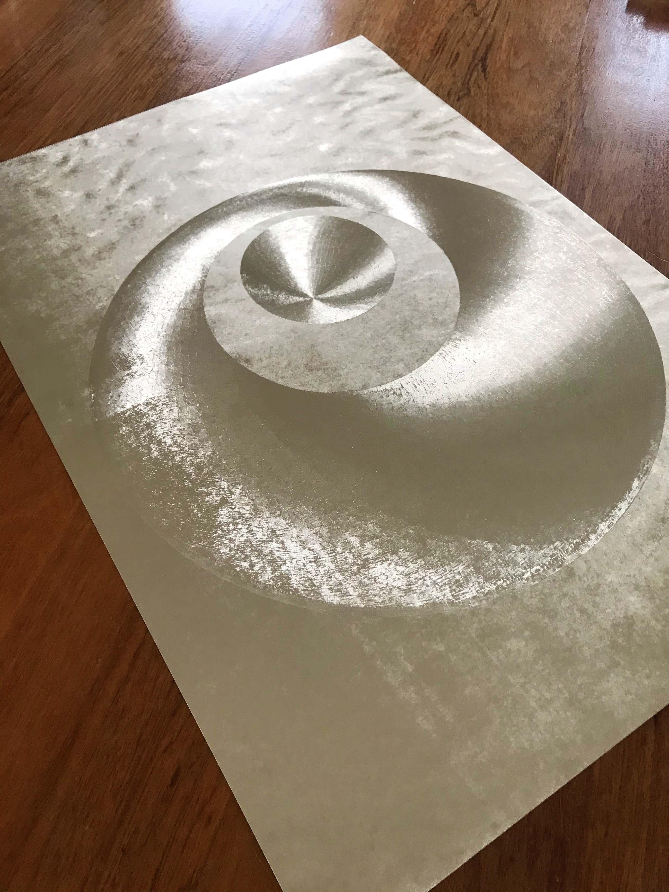 Patrick Dupre - Op Art - Optical 80 Modernist Metallic Vasarely - Metallic Print kopen? Bied vanaf 55!