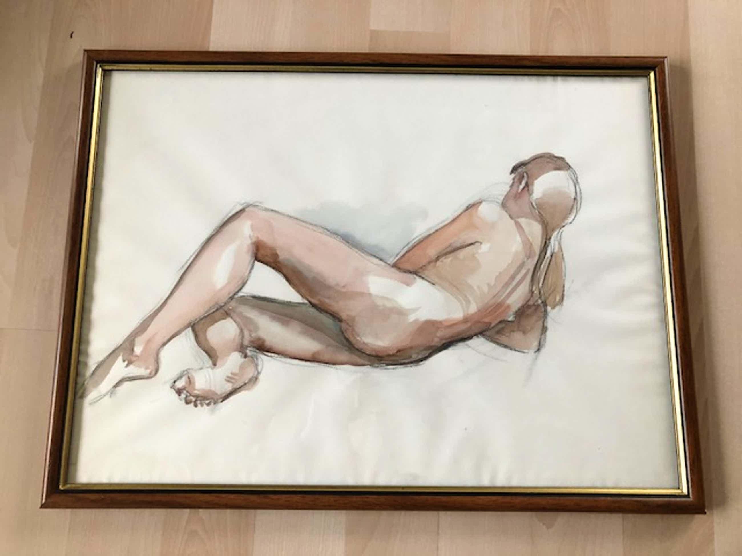 Flip Hamers - liggend poserende naakte vrouw kopen? Bied vanaf 40!