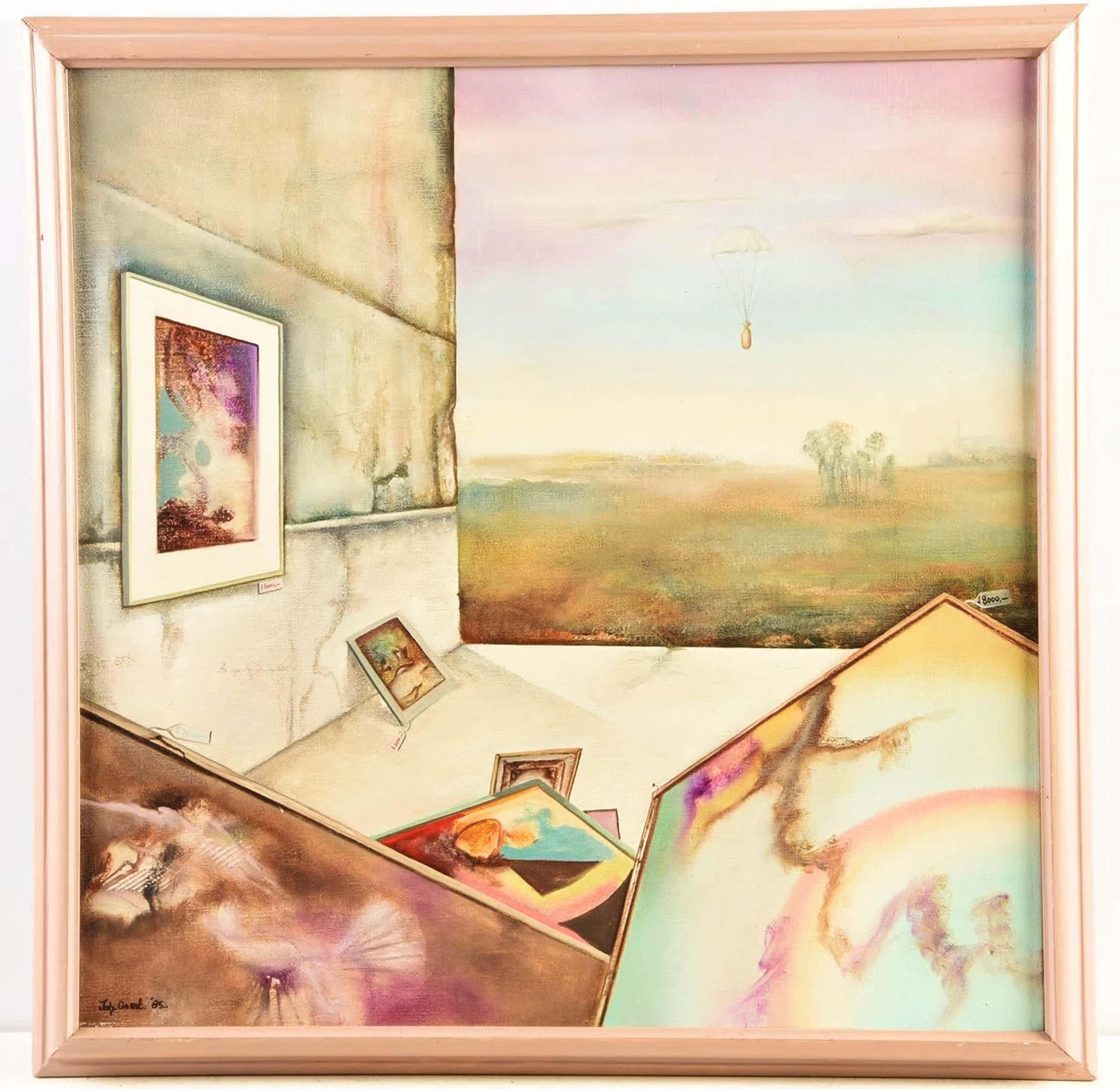 Johannes Garst - Surrealistische voorstelling met schilderijen kopen? Bied vanaf 40!