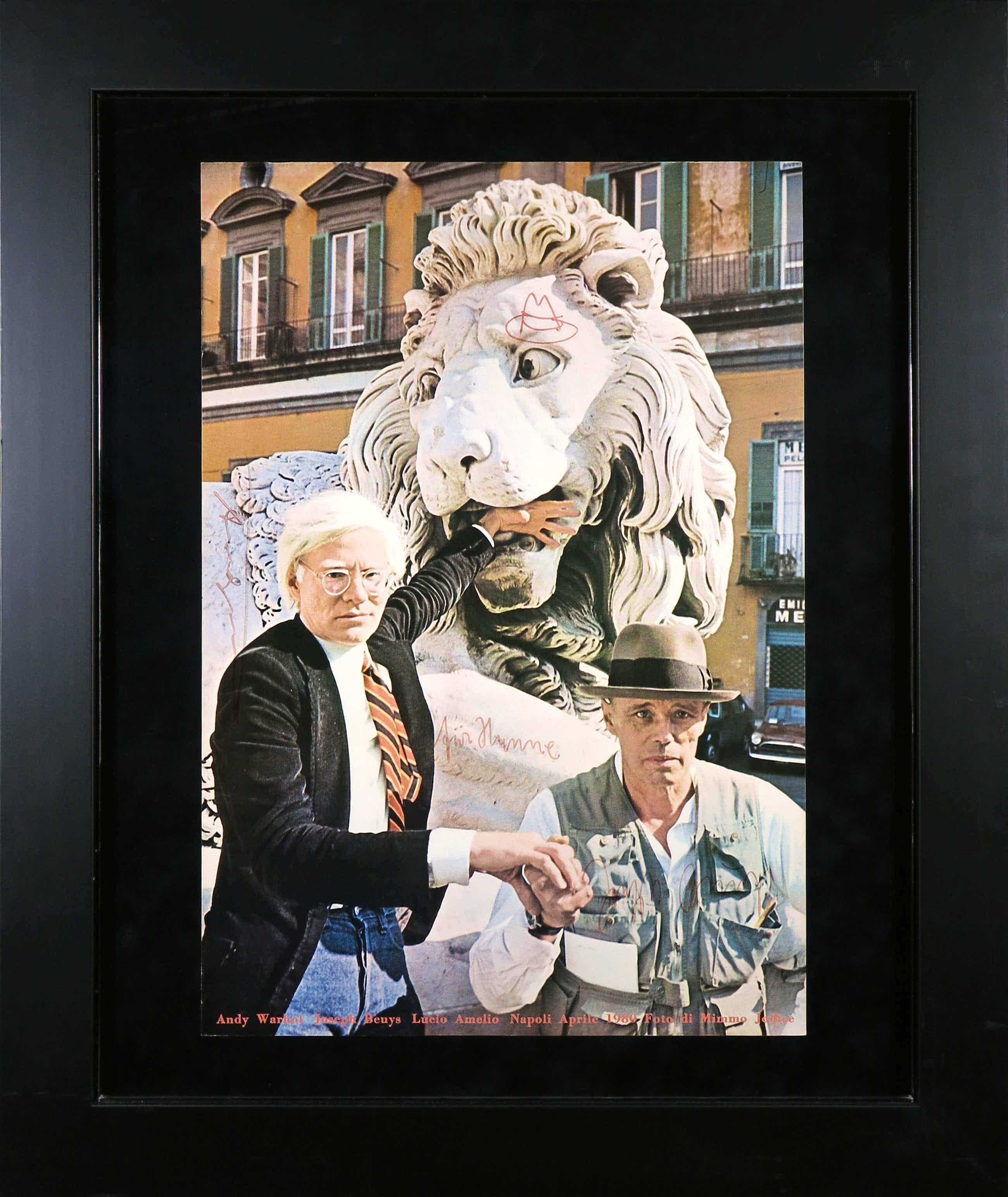 Andy Warhol - en Joseph Beuys - Handgesigneerd affiche voor tentoonstelling - Ingelijst kopen? Bied vanaf 900!