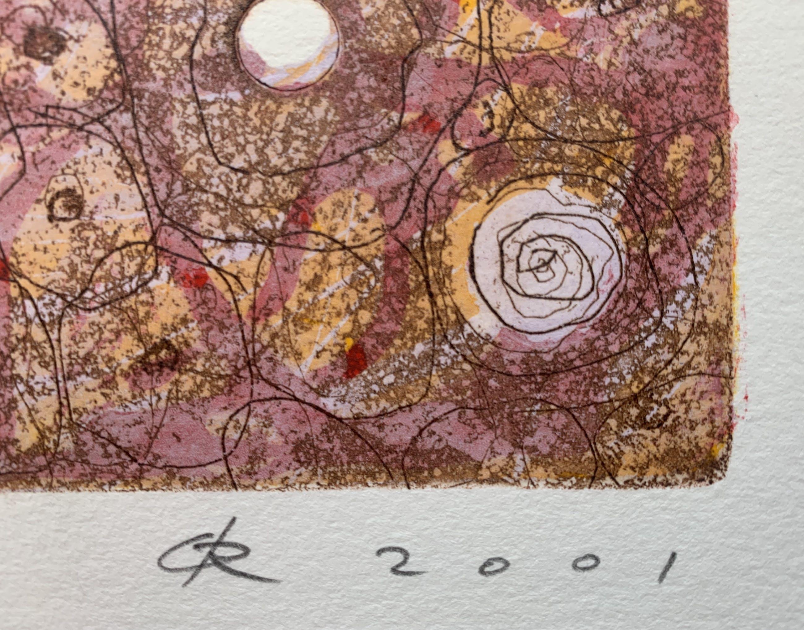 Rob de Graaf - ets/houtsnede   'Unus Mundus'   2001 kopen? Bied vanaf 75!