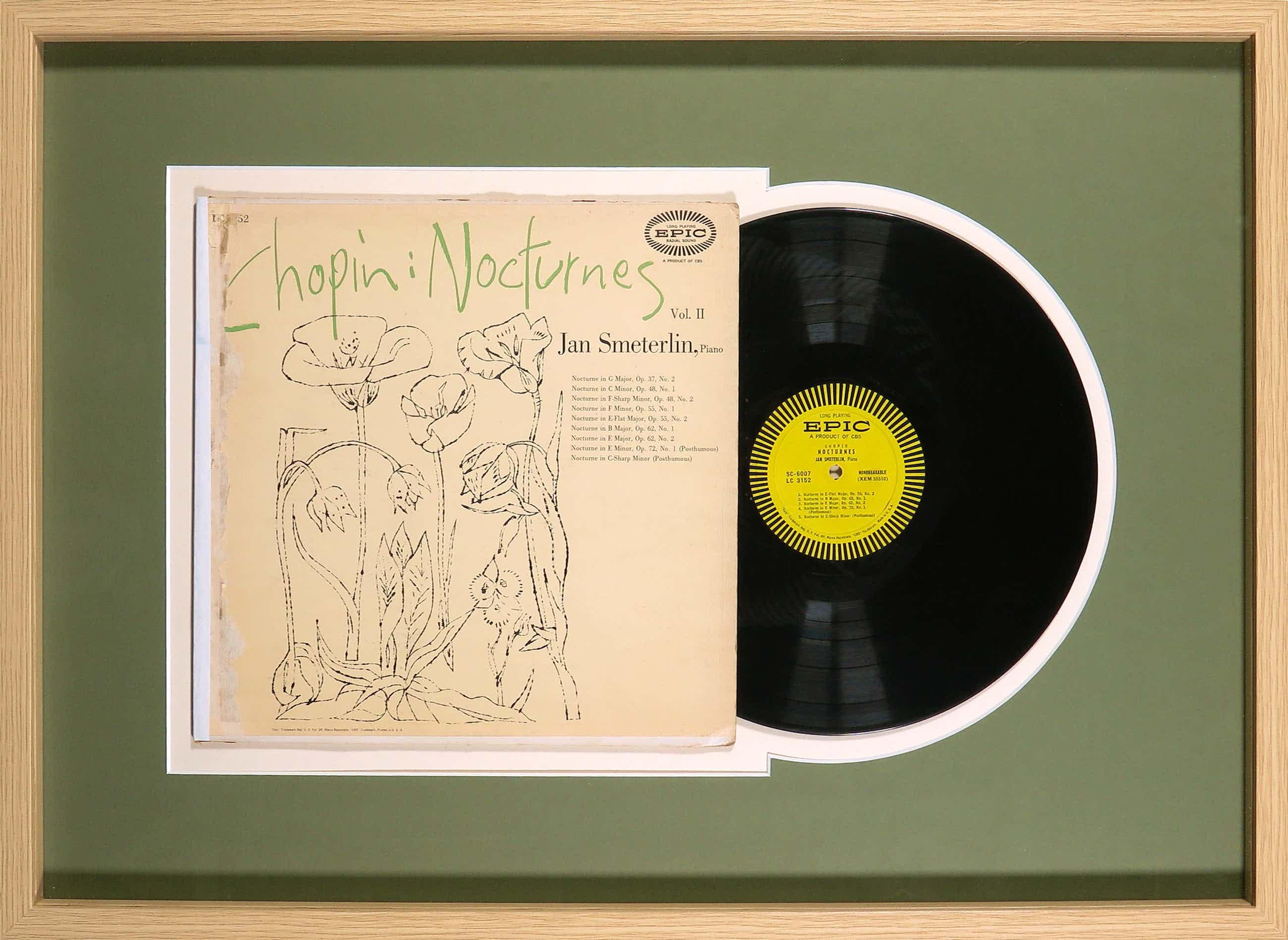 Andy Warhol - Chopin - Jan Smeterlin – Nocturnes Vol. I - Ingelijst kopen? Bied vanaf 75!