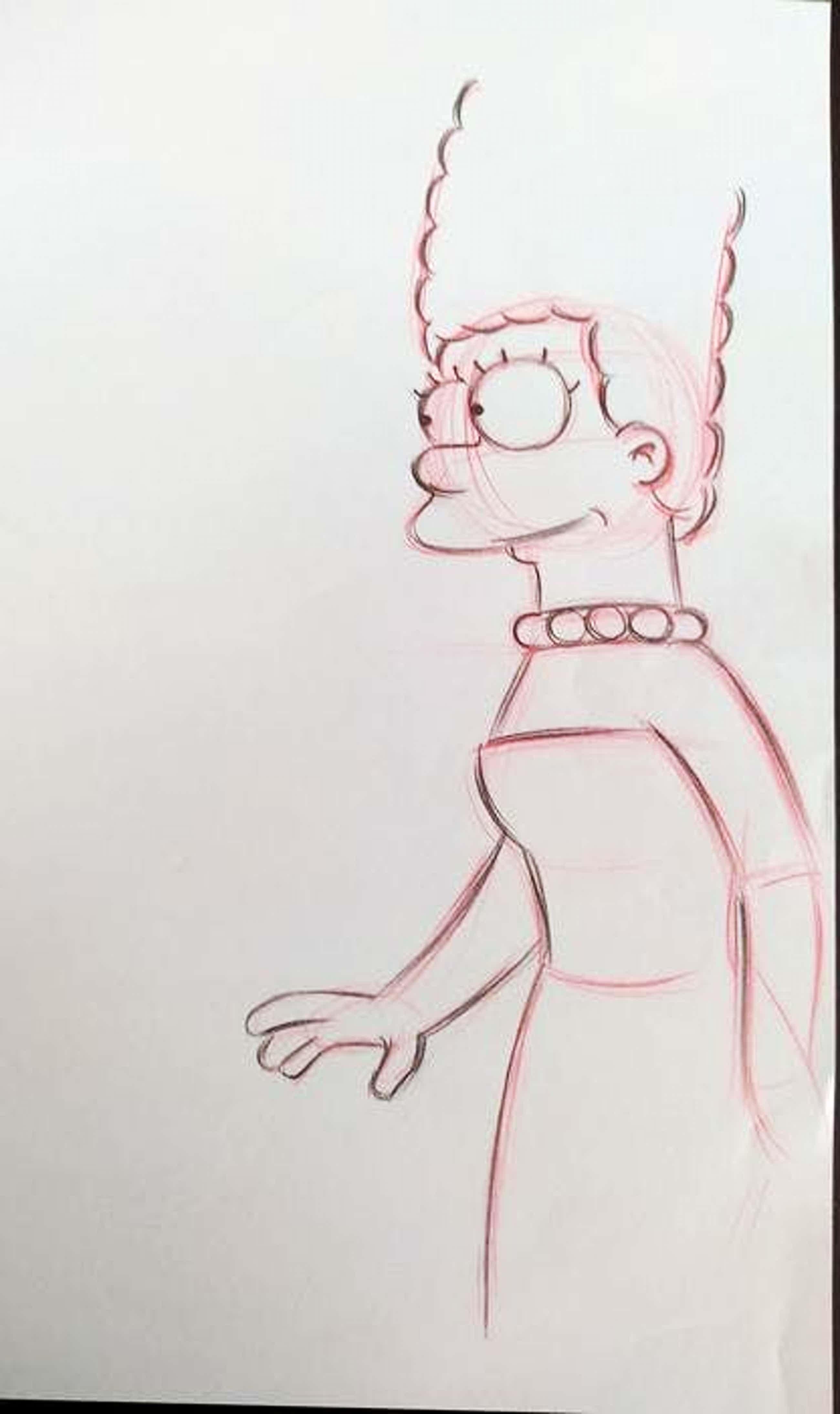 Matt Groening - originele unieke tekening Marge, The Simpsons, ingelijst + certificaat kopen? Bied vanaf 250!