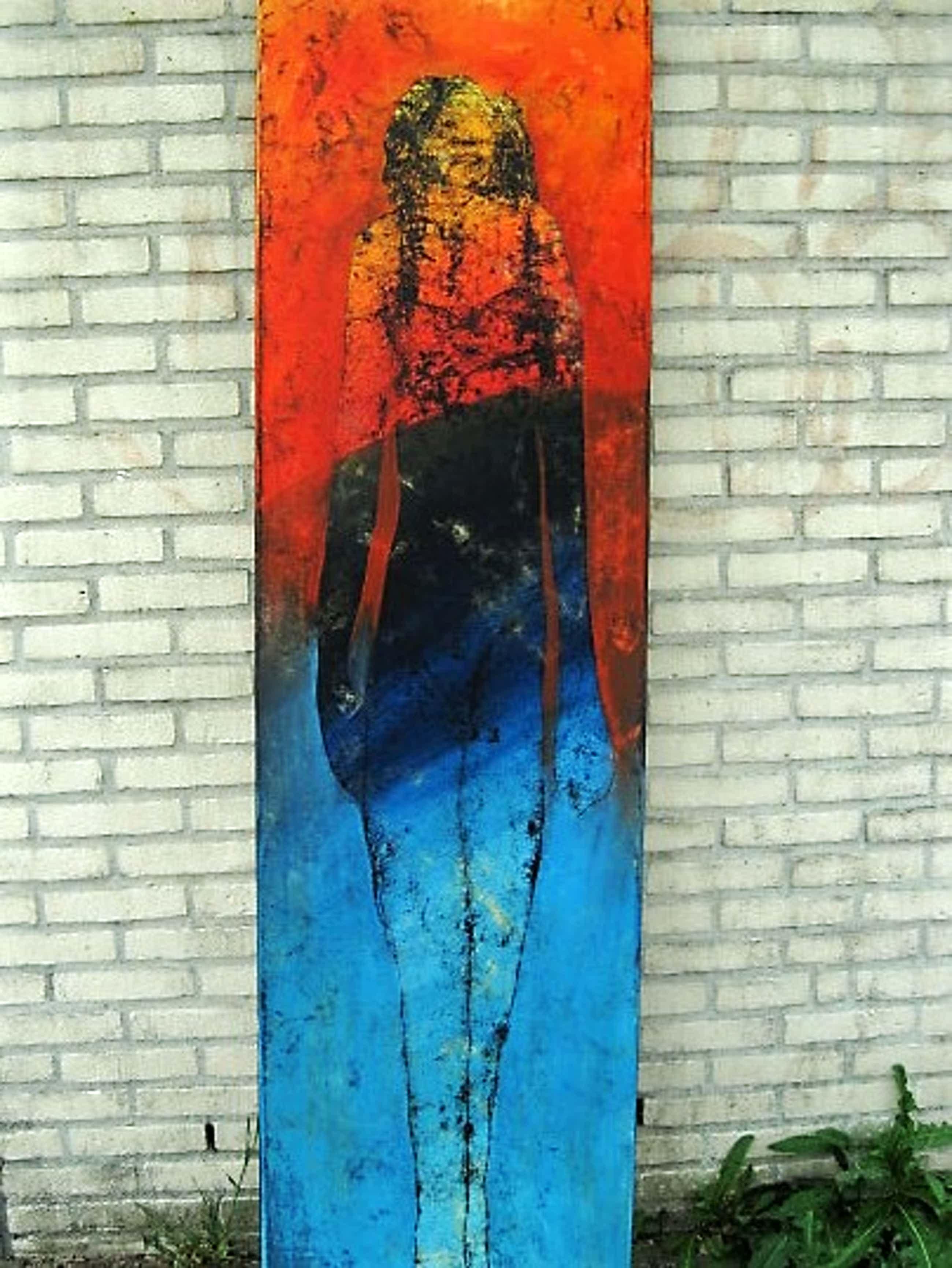 """Sjer Jacobs - KunstAcademie Maastricht - Manshoog Olieverf """"Veelzijdige vrouw"""" gesigneerd kopen? Bied vanaf 369!"""