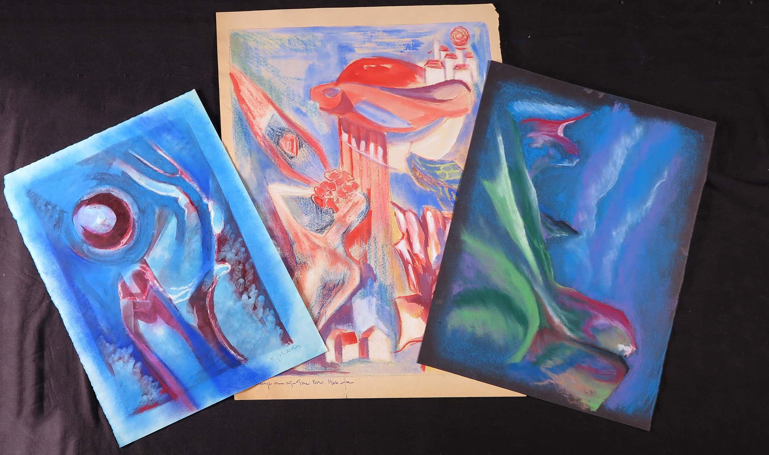 Joe Wols - Lot van drie tekeningen, Figuratief kopen? Bied vanaf 3!