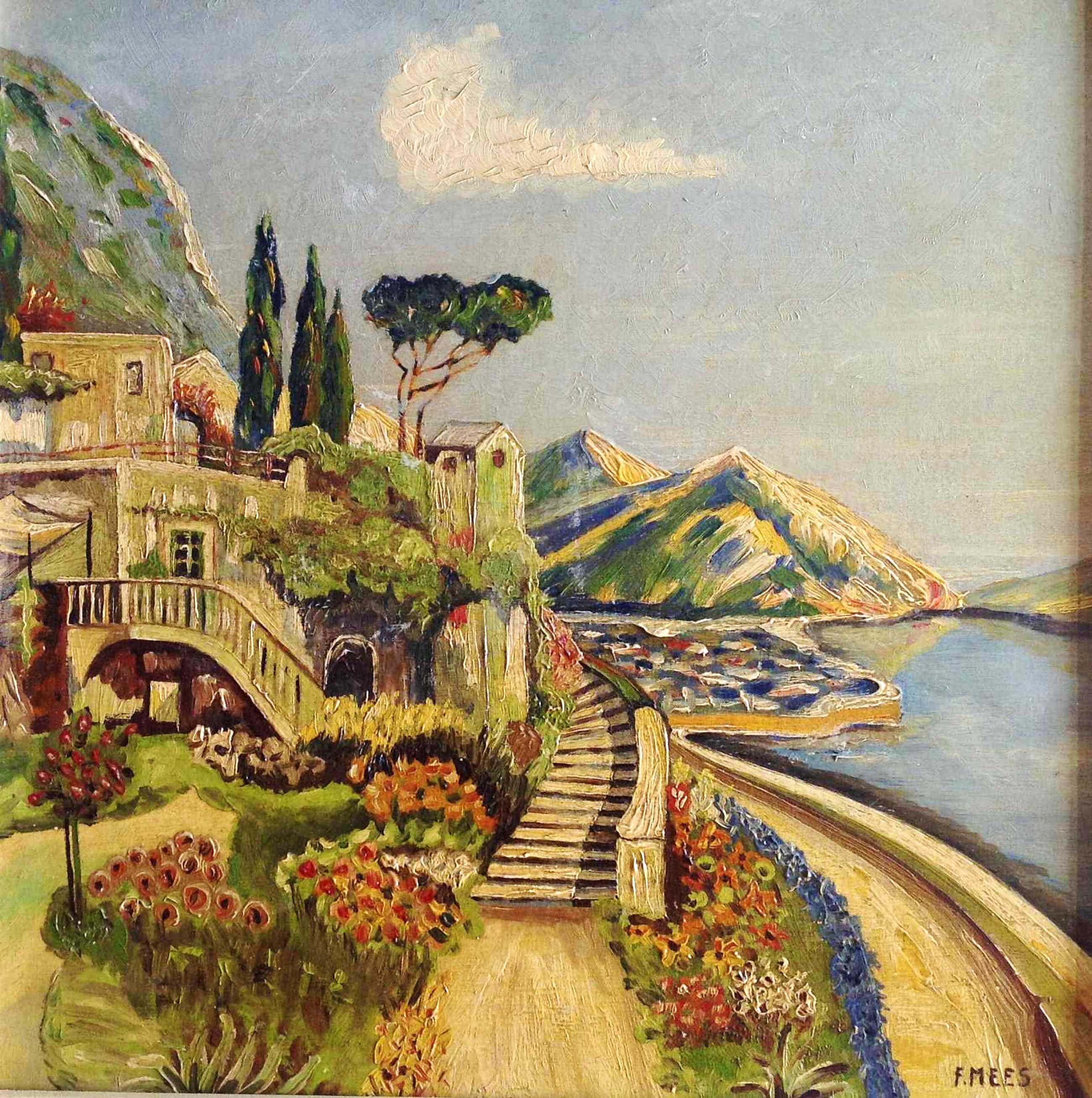 Fokko Mees - Zonnige dag in een Mediterraans stadje aan de kust  kopen? Bied vanaf 80!