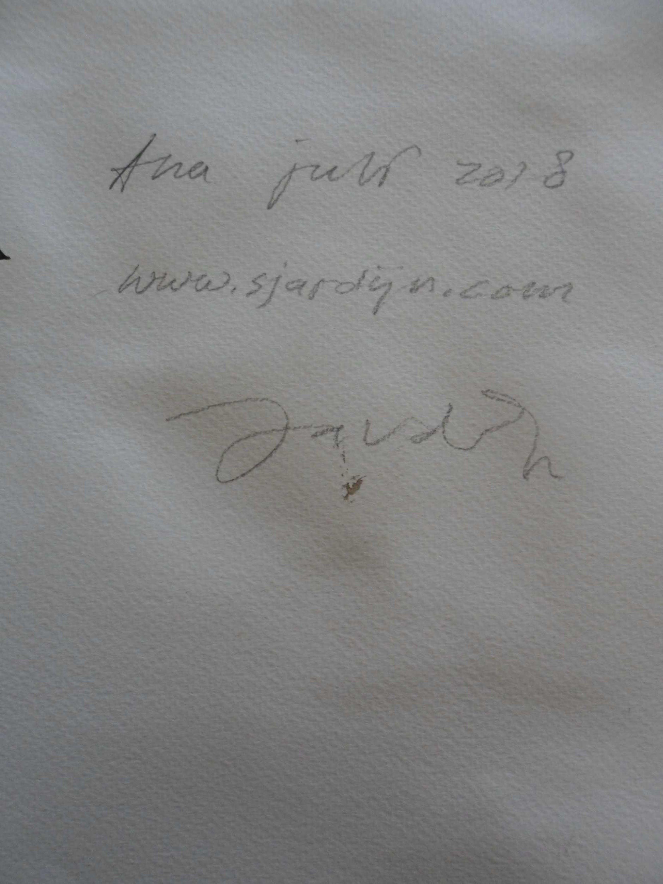 Martin Sjardijn - Pentekening. 'Ana' juli 2018 kopen? Bied vanaf 20!