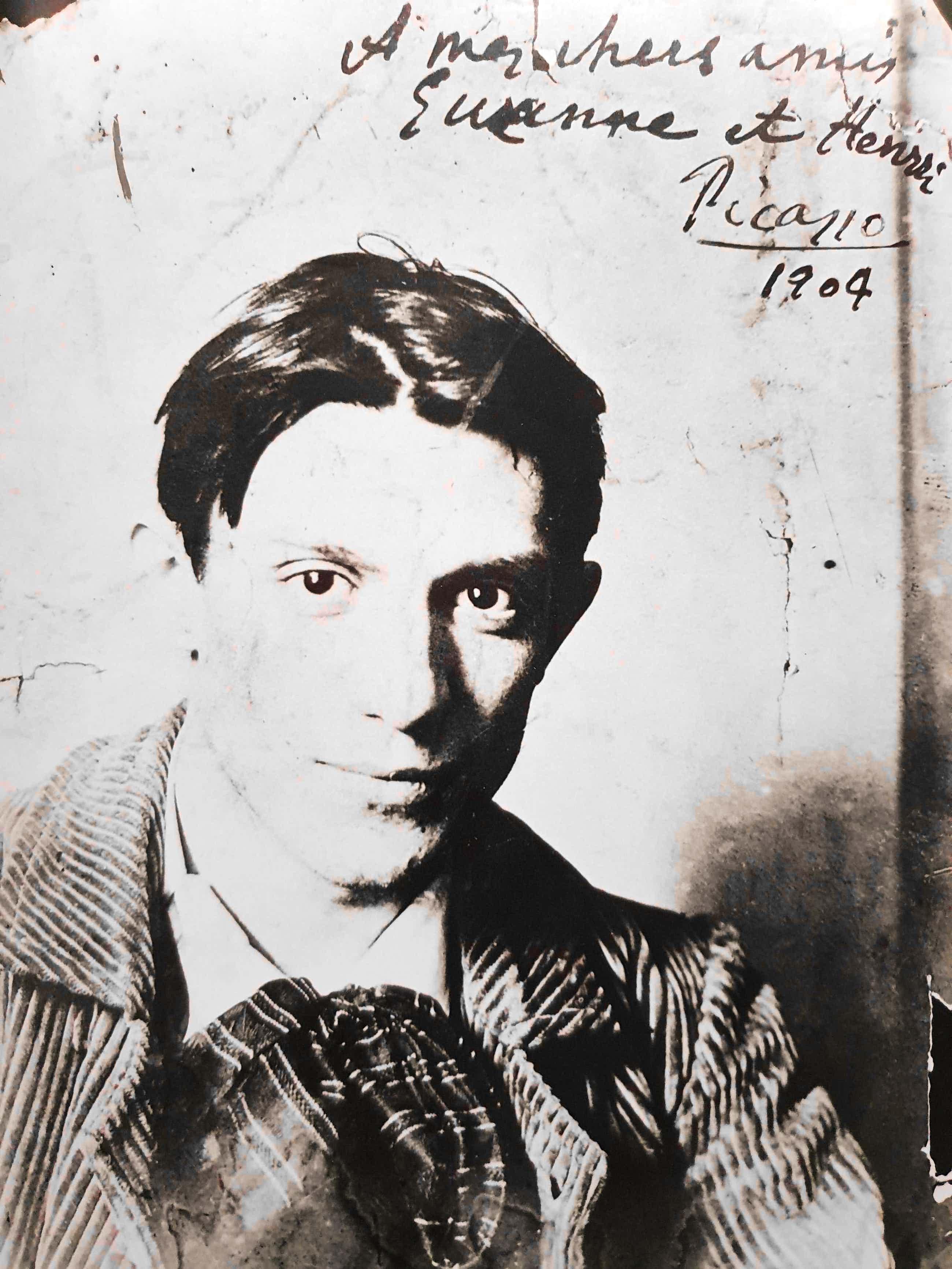 Pablo Picasso - Zwart/wit-foto met een portret van de jonge kunstenaar kopen? Bied vanaf 40!