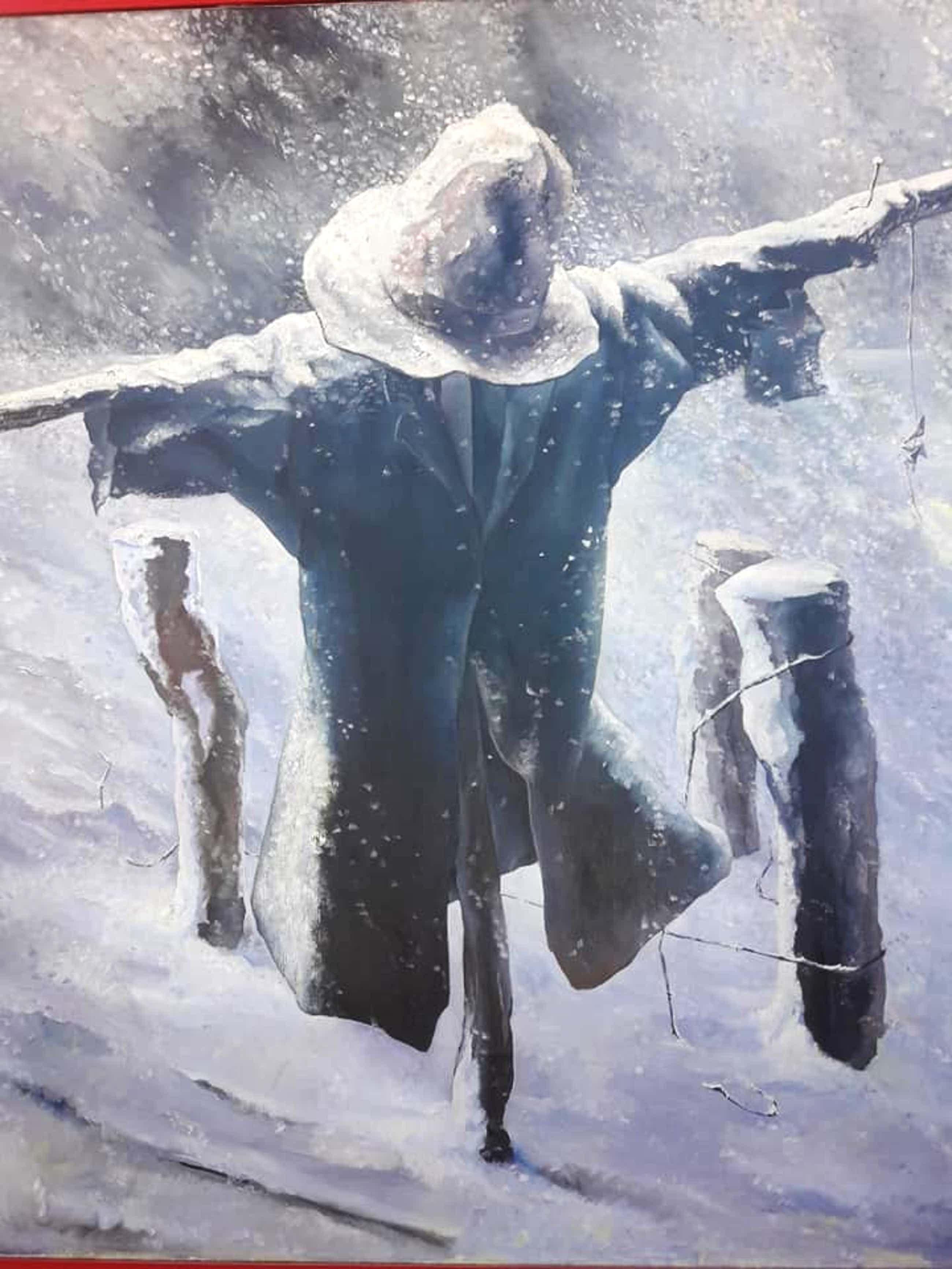 Marinus Schipper - Vogelverschrikker in de sneeuw uit 1938. (134 x 114)! kopen? Bied vanaf 195!