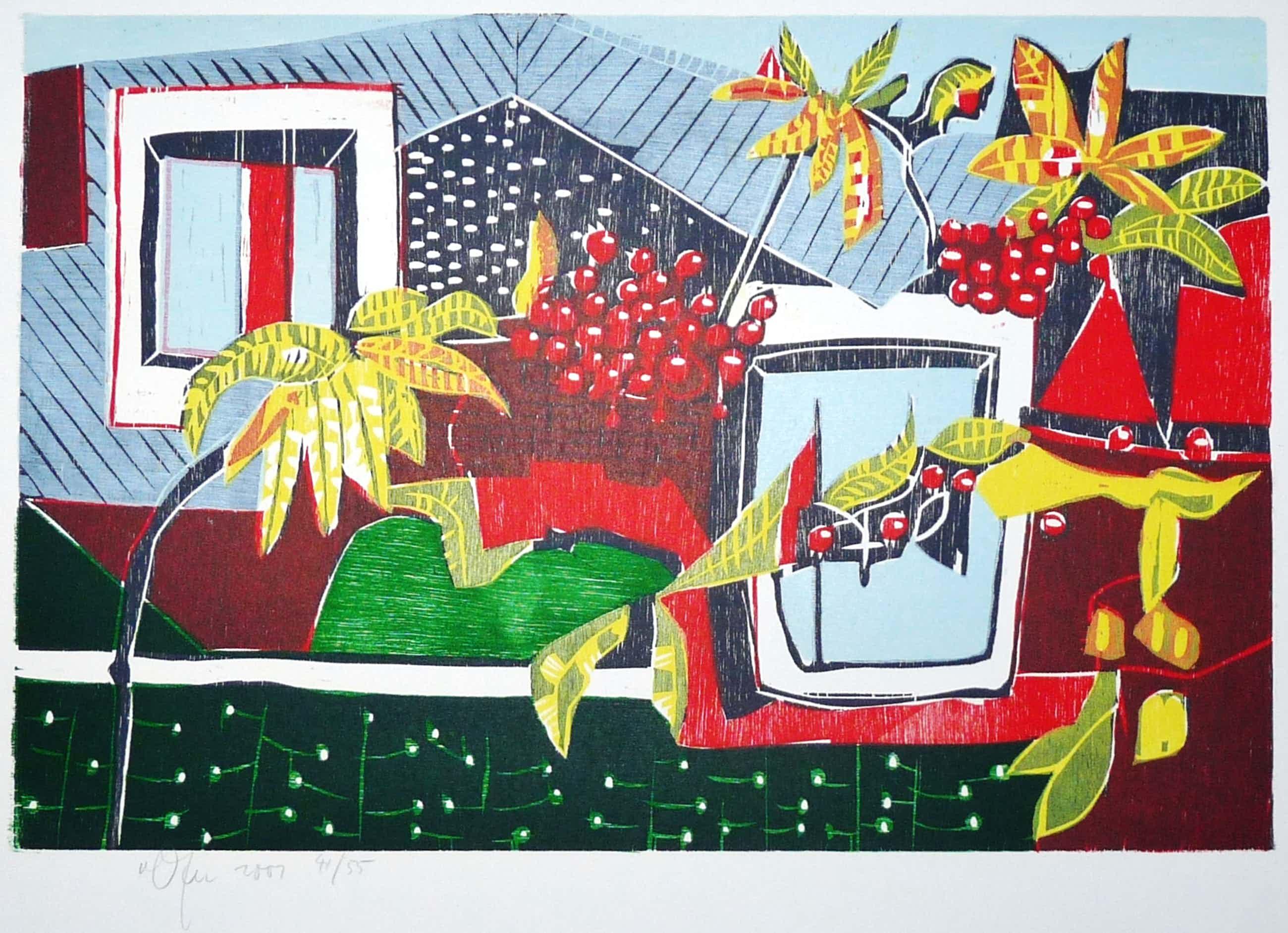 Vincent van Ojen - Stilleven met bladeren en bessen. kopen? Bied vanaf 60!