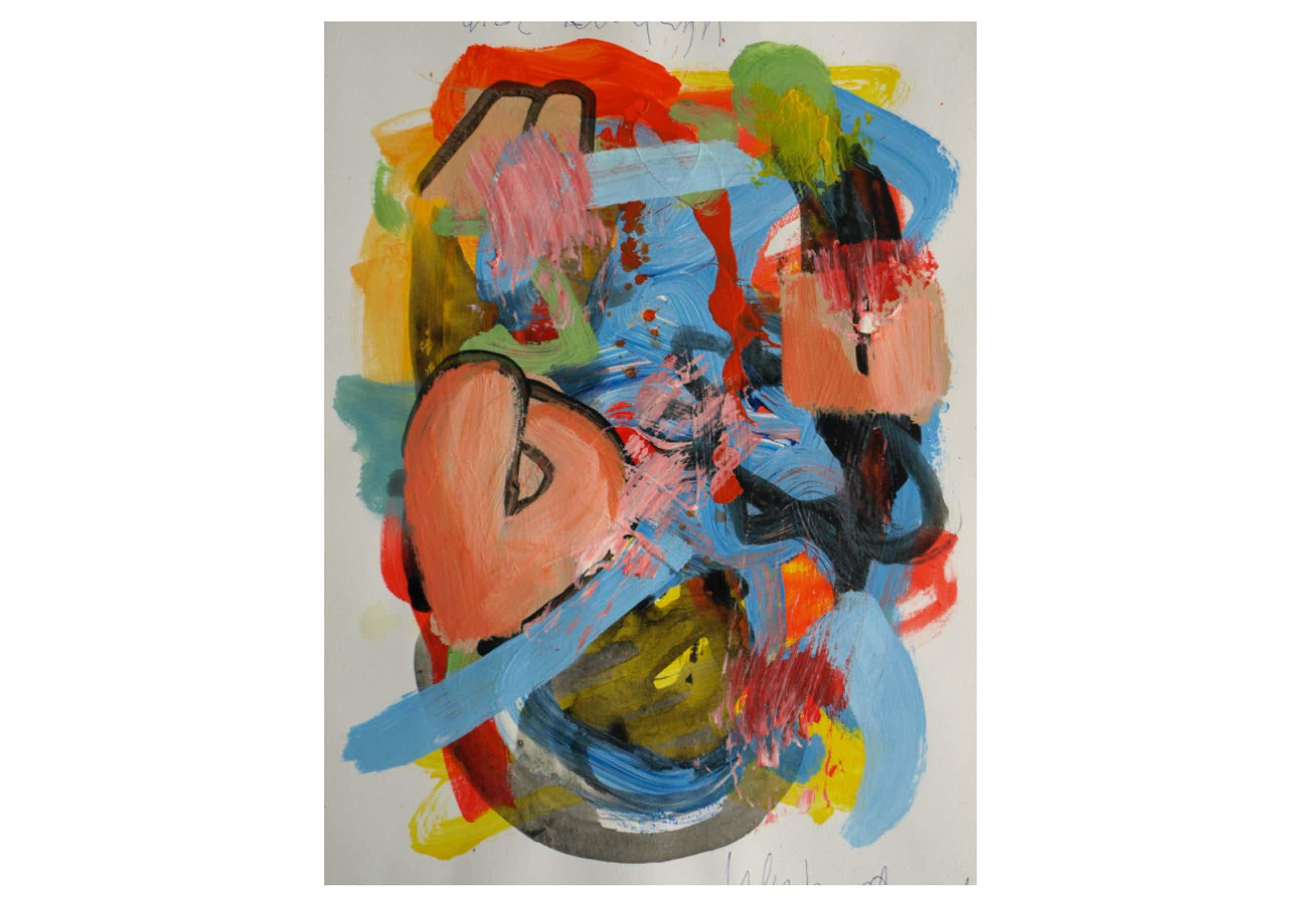 Peter Klashorst - Acrylverf op papier – Abstract 14 - 2016 kopen? Bied vanaf 45!