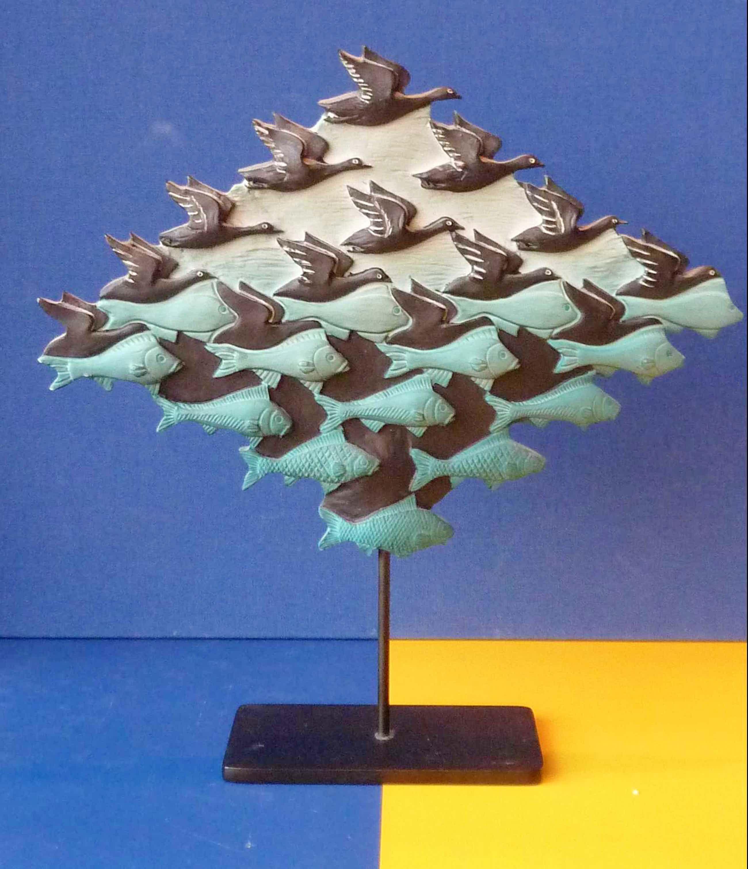 M.C. Escher - 3D- sculpture 'Lucht en water' kopen? Bied vanaf 110!