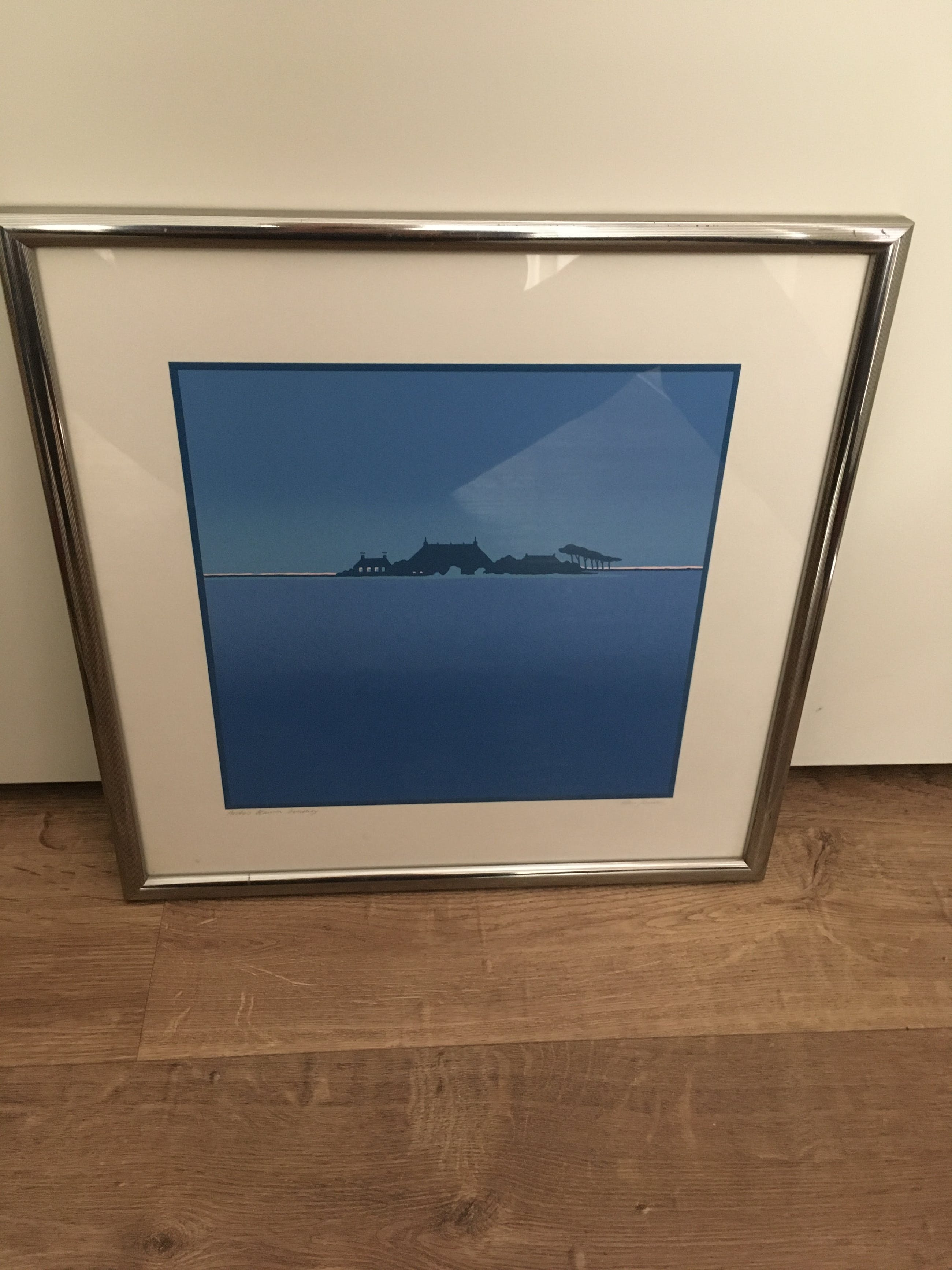 Han Jansen - Kleurenzeefdruk ' Aviko's Blauwe Boerderij ' kopen? Bied vanaf 80!
