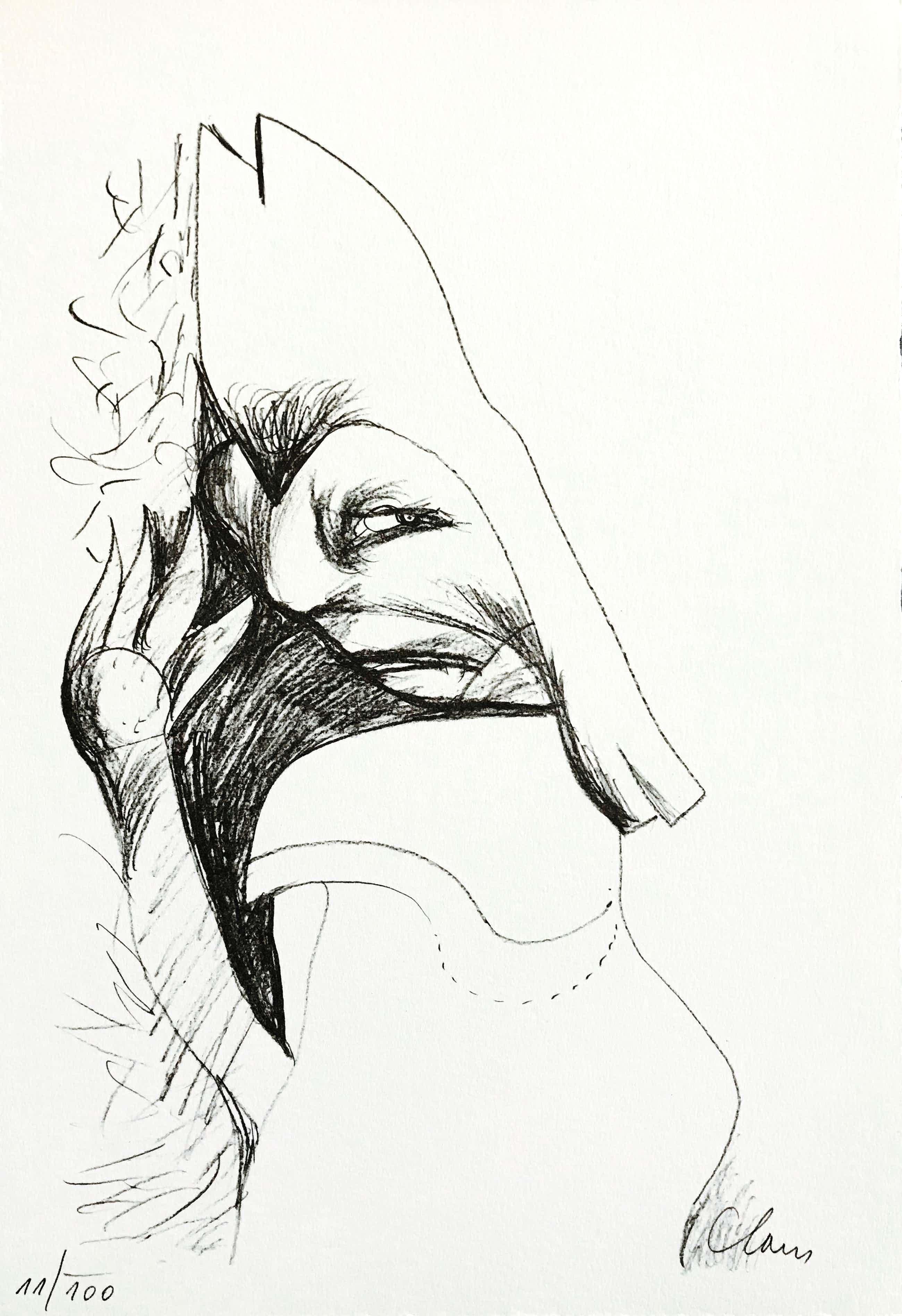 Hugo Claus - Fraaie lithografie - Oplage 100 - Gesigneerd - 1978 kopen? Bied vanaf 75!