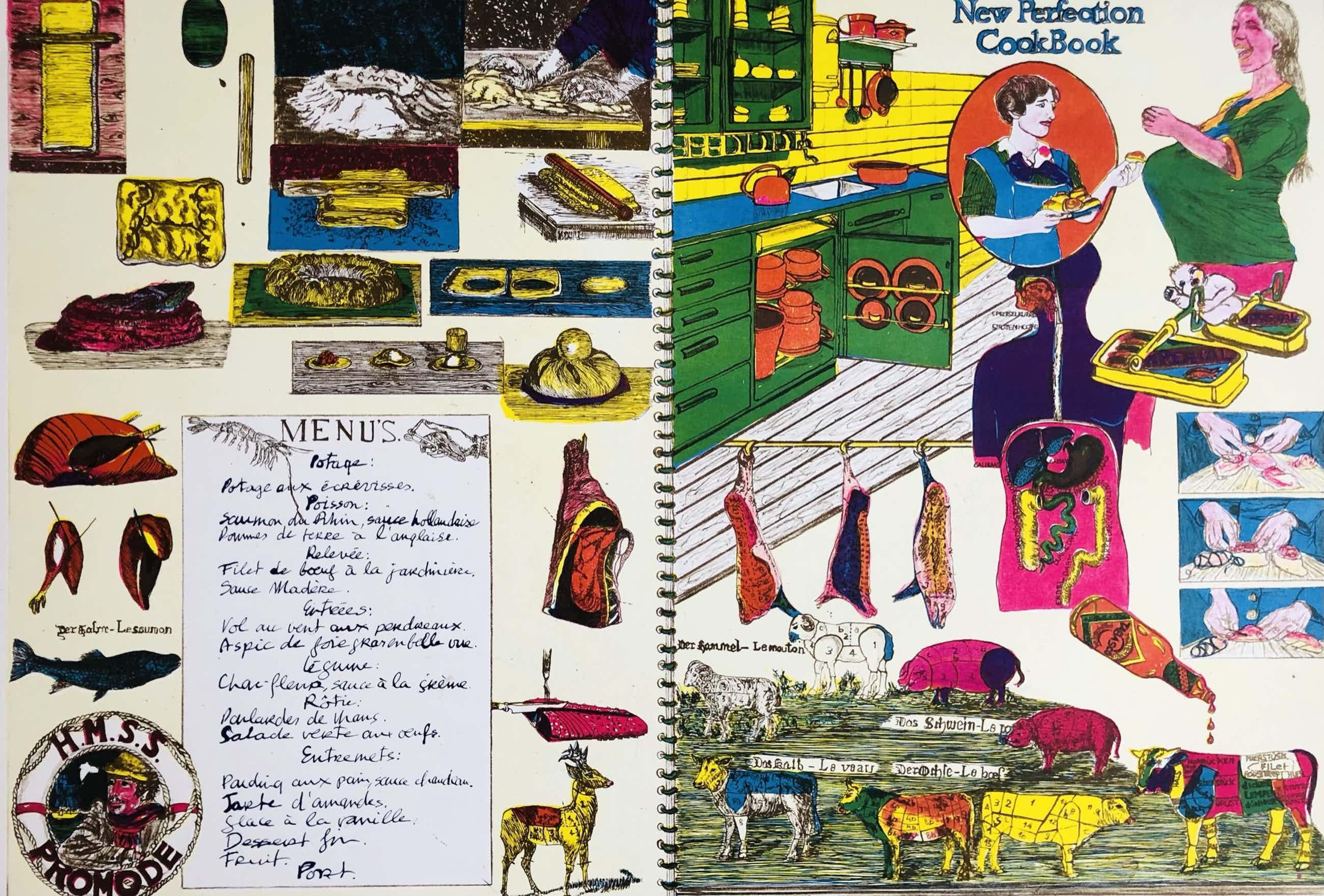 Jacqueline de Jong - prent 190: The perfect cookbook kopen? Bied vanaf 75!