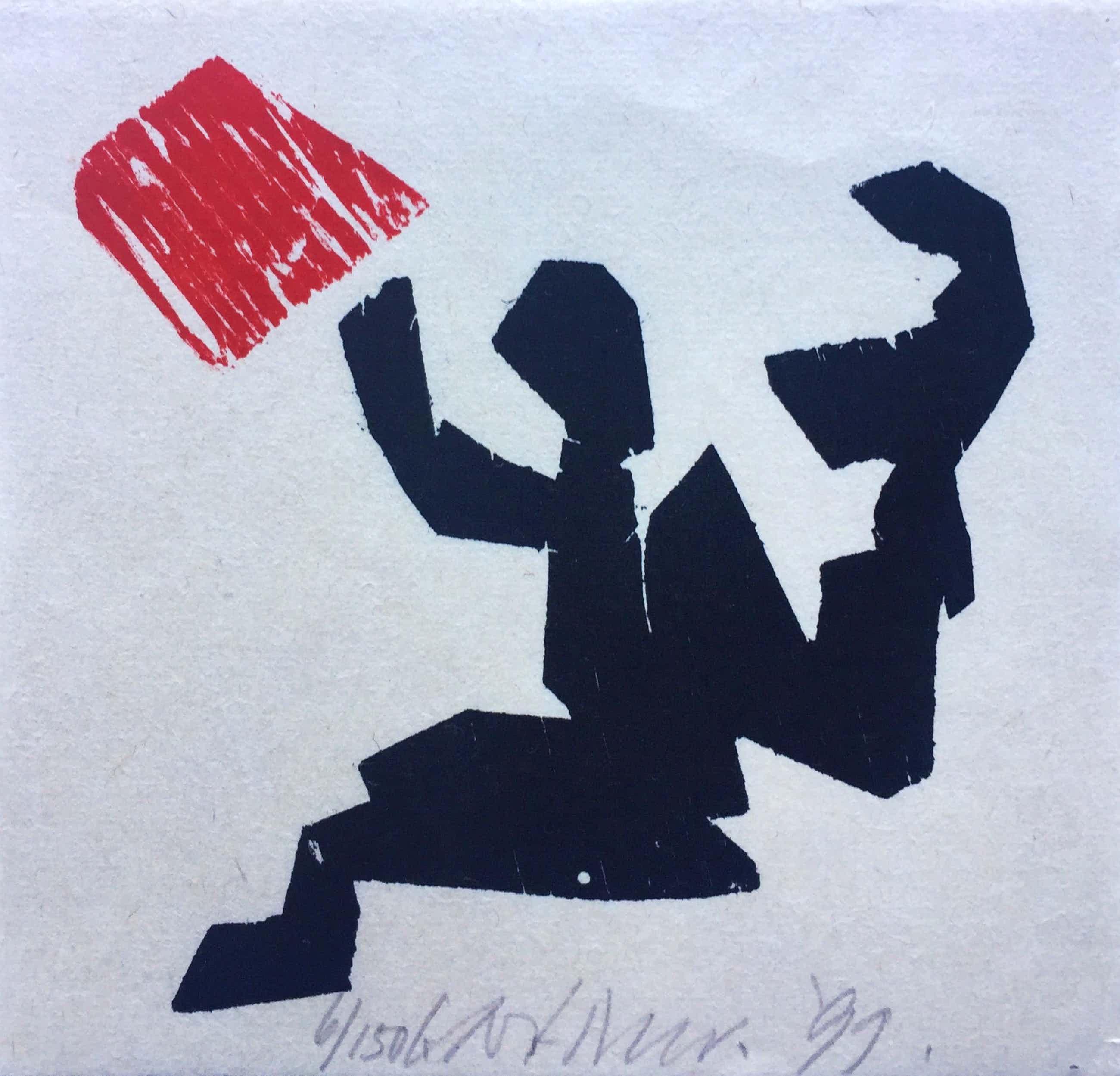 Carel Visser - houtsnede - zonder titel- 1999 kopen? Bied vanaf 85!