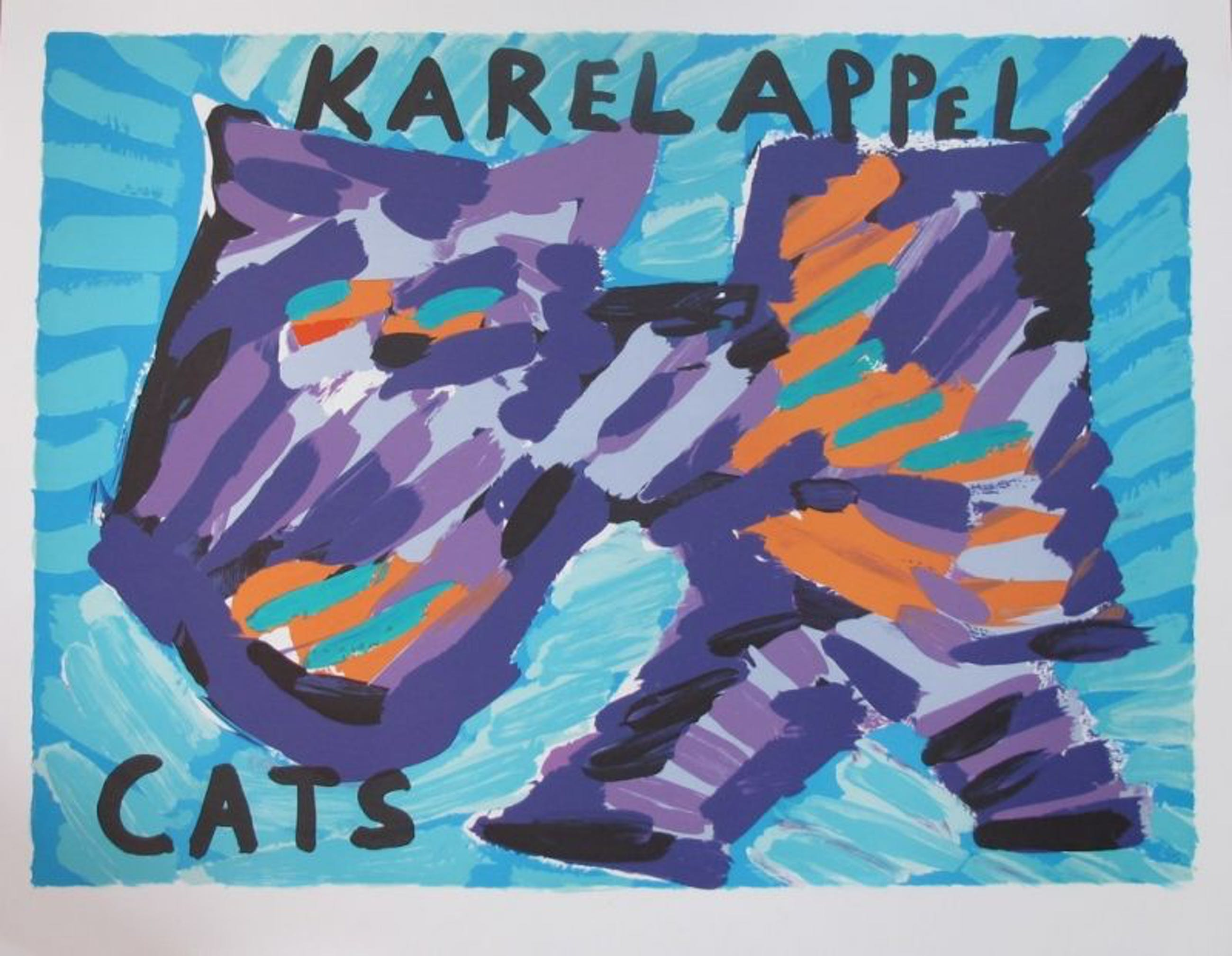 Karel Appel - Kleurenlitho HAPPY CAT kopen? Bied vanaf 135!