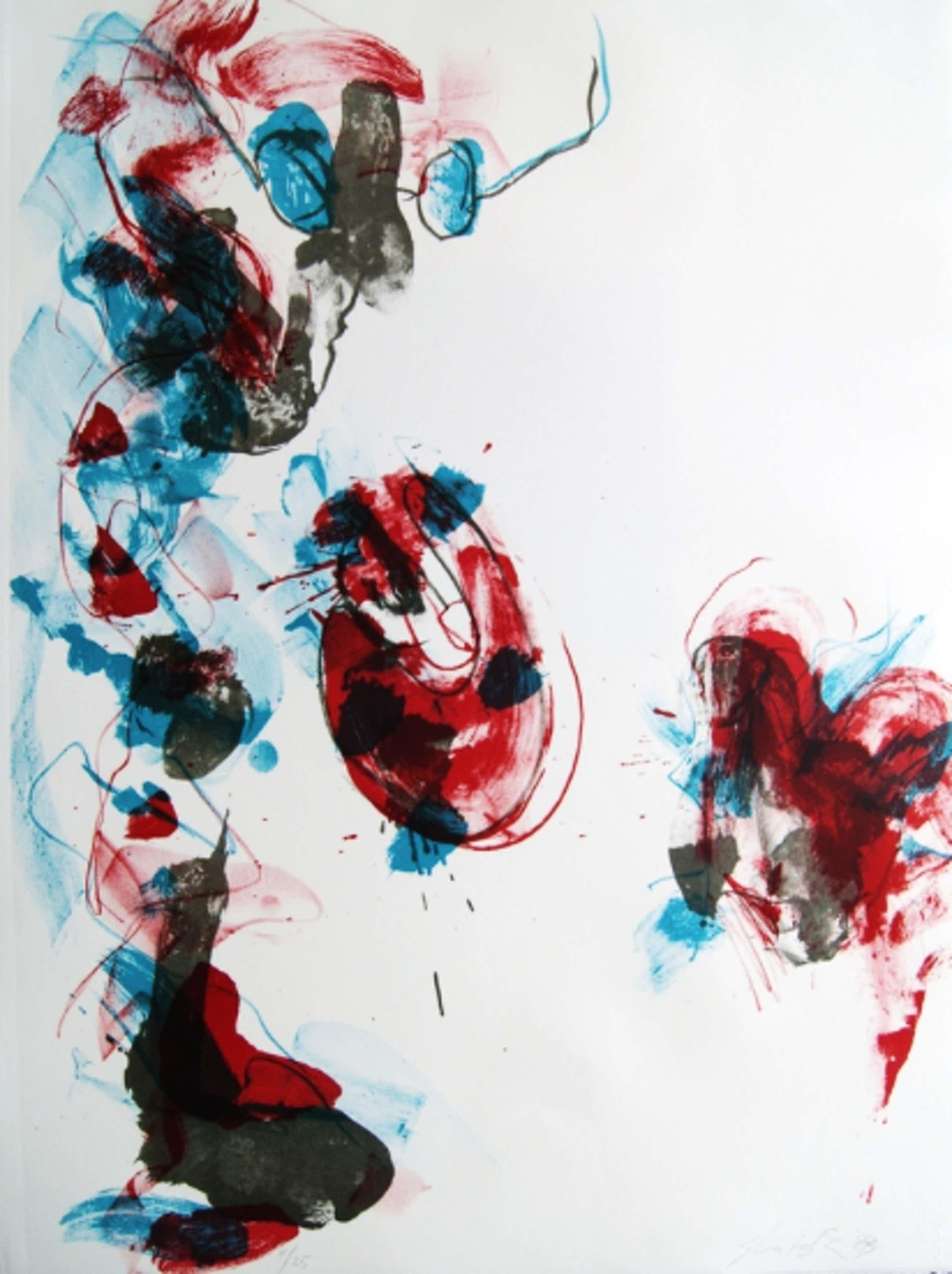 Ger Lataster - Kleurenlitho ' In het atelier' kopen? Bied vanaf 79!