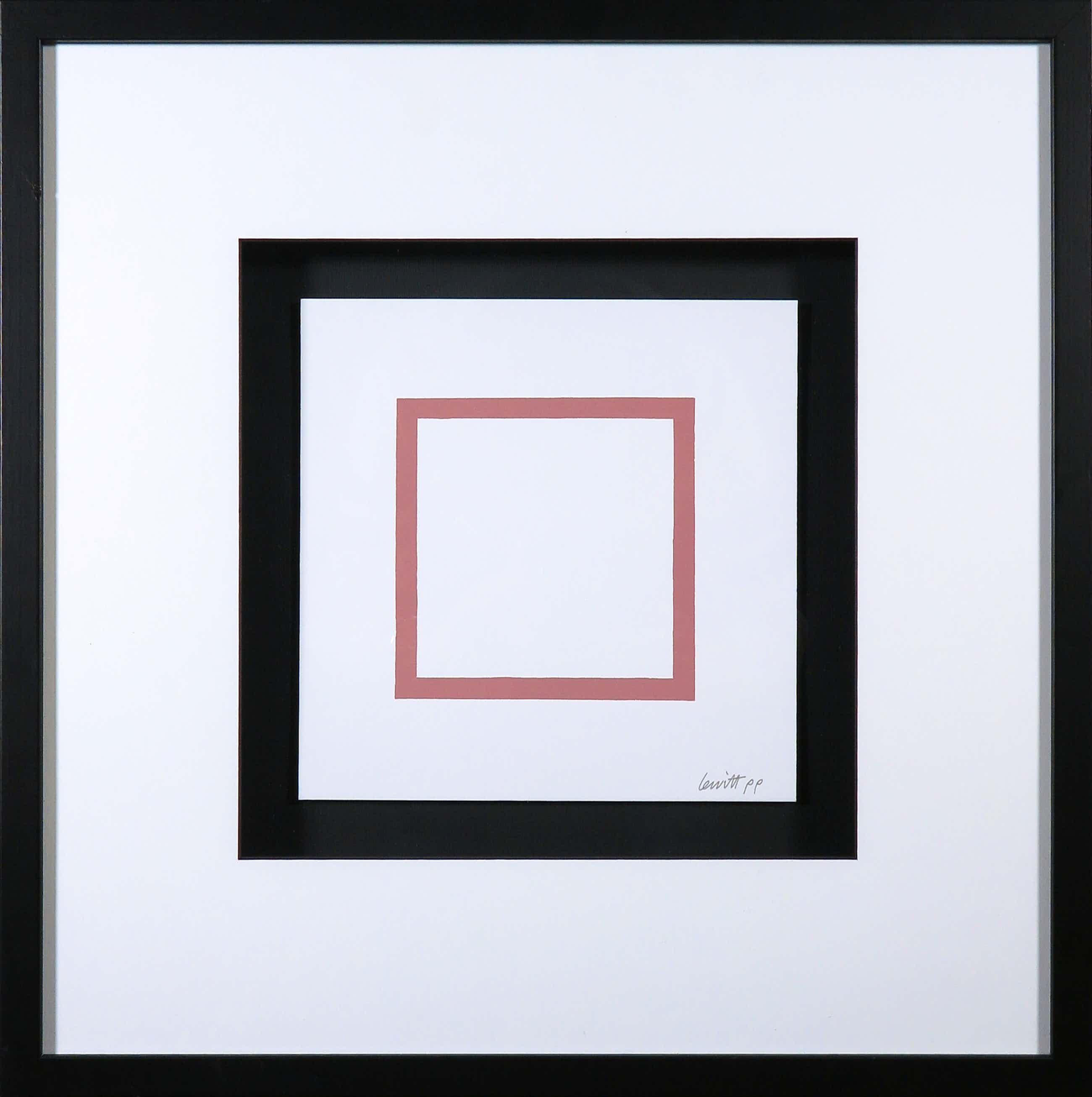 Sol LeWitt - Zeefdruk uit de serie 'Five Geometric Figures in Five Colors' - Ingelijst kopen? Bied vanaf 380!