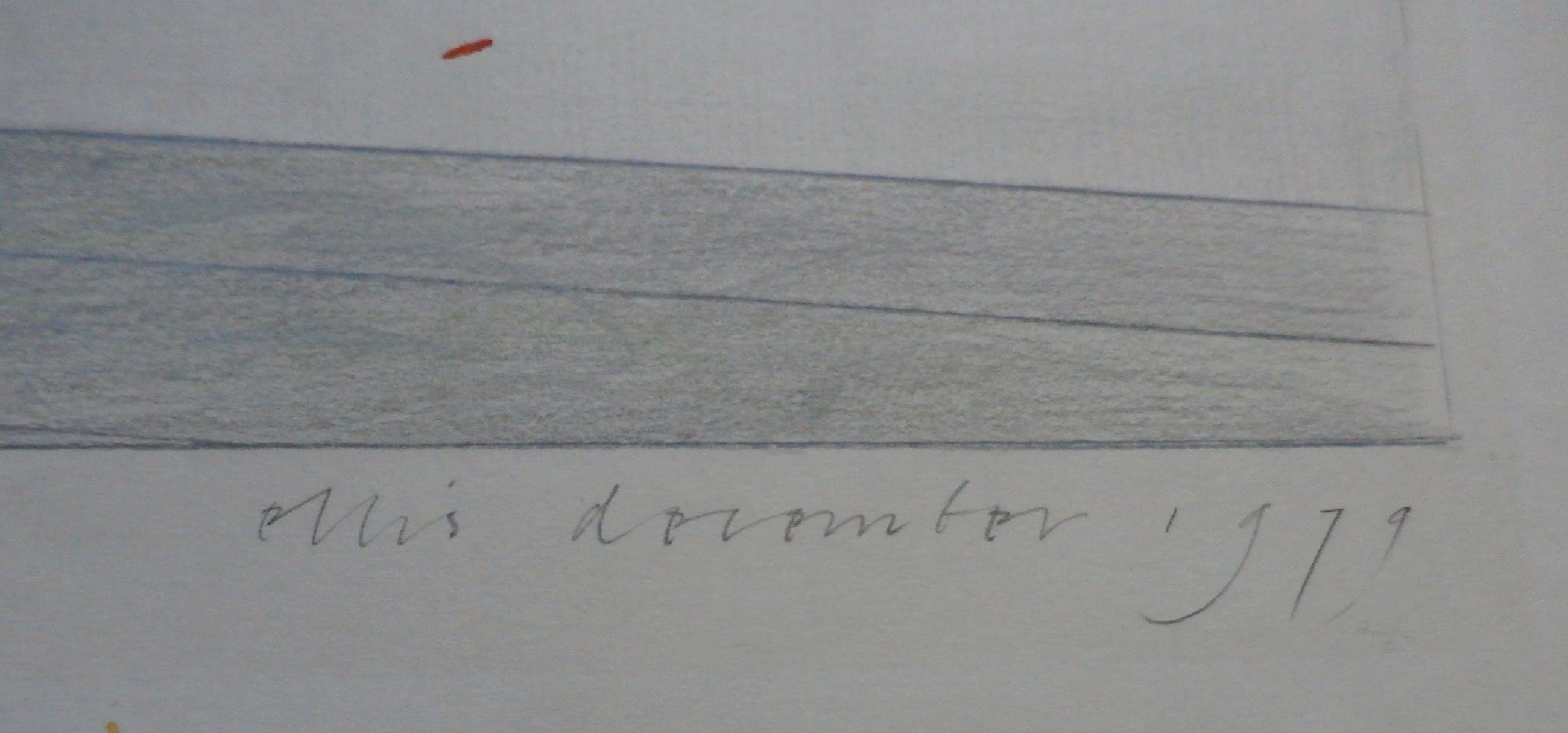 Ellis Tertoolen - tekening: interieur met stippen - 1979 kopen? Bied vanaf 249!