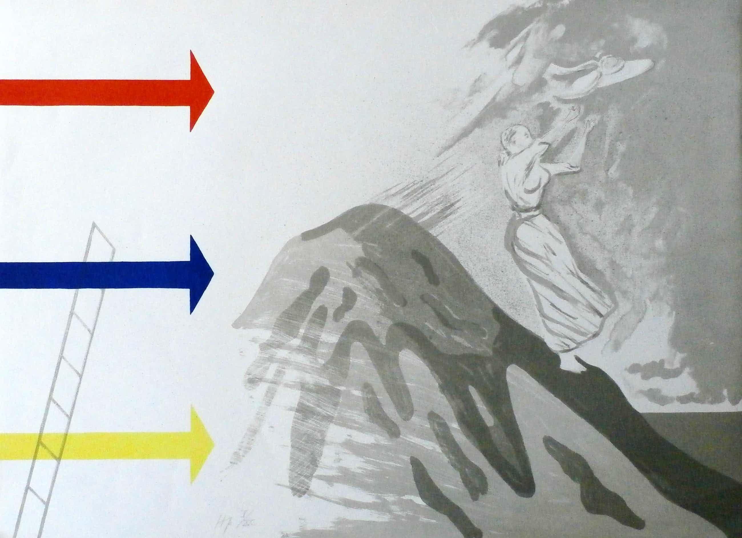 Hannes Postma - Kleurenlitho: De pijl kopen? Bied vanaf 35!