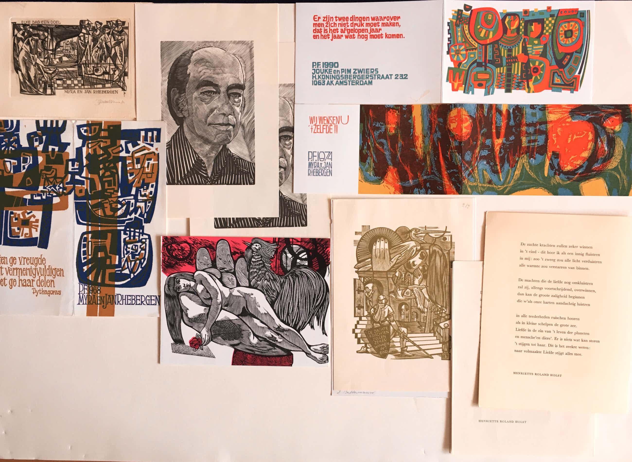 Jan Battermann - 58 st. kleingrafiek: Gravures, houtgravures en lino's kopen? Bied vanaf 44!