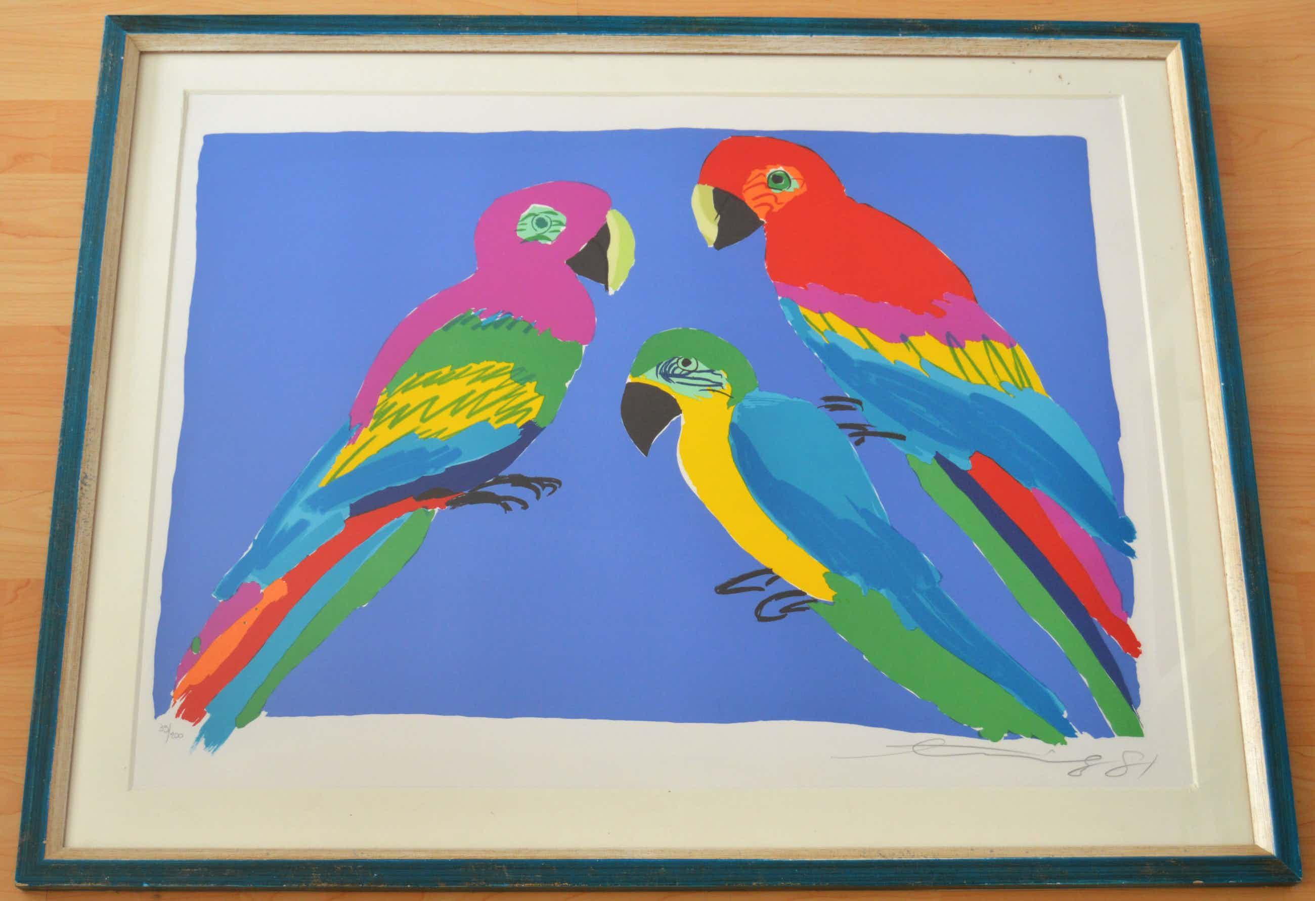 Walasse Ting - 3 parrots kopen? Bied vanaf 325!