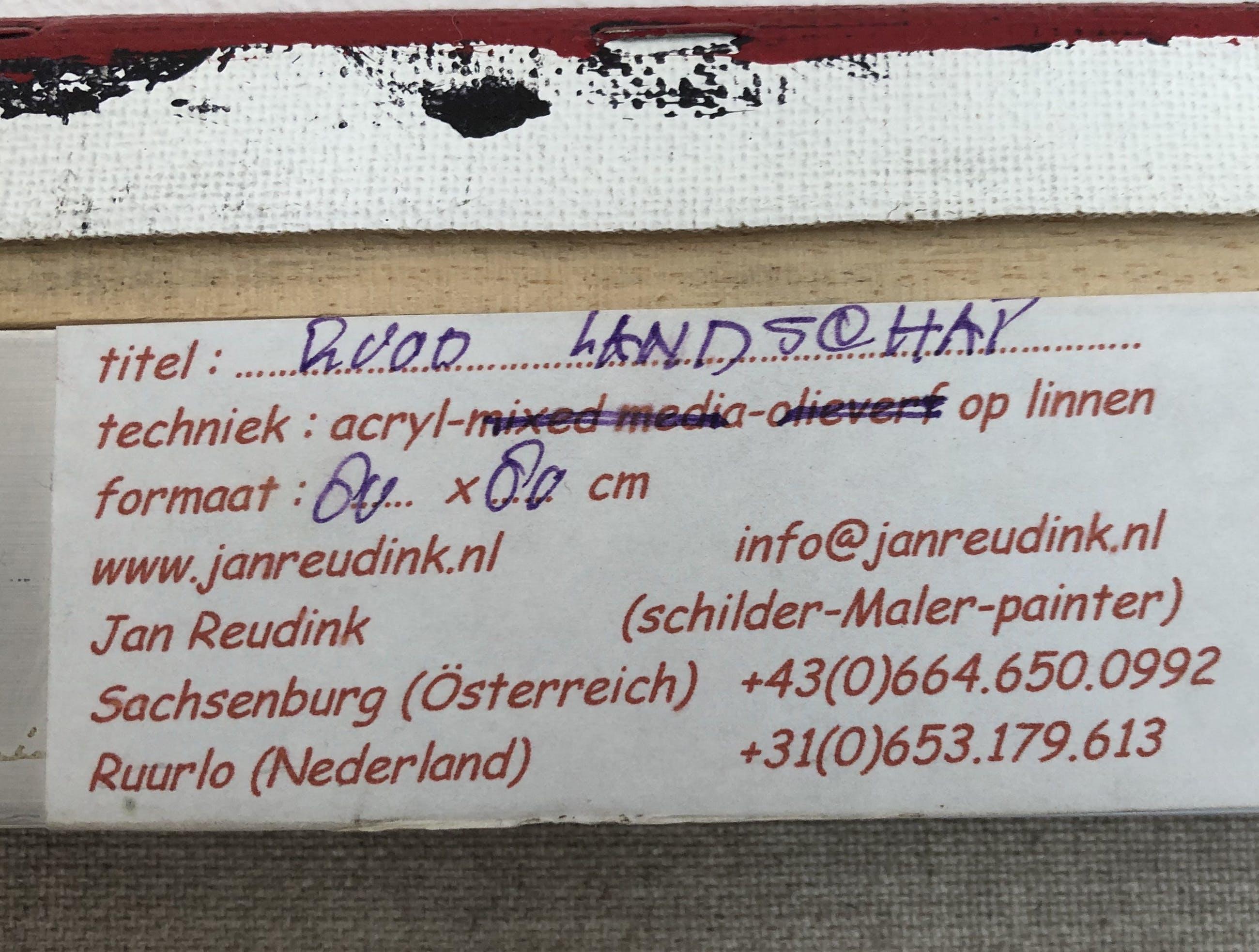 Jan Reudink - Rood landschap kopen? Bied vanaf 50!