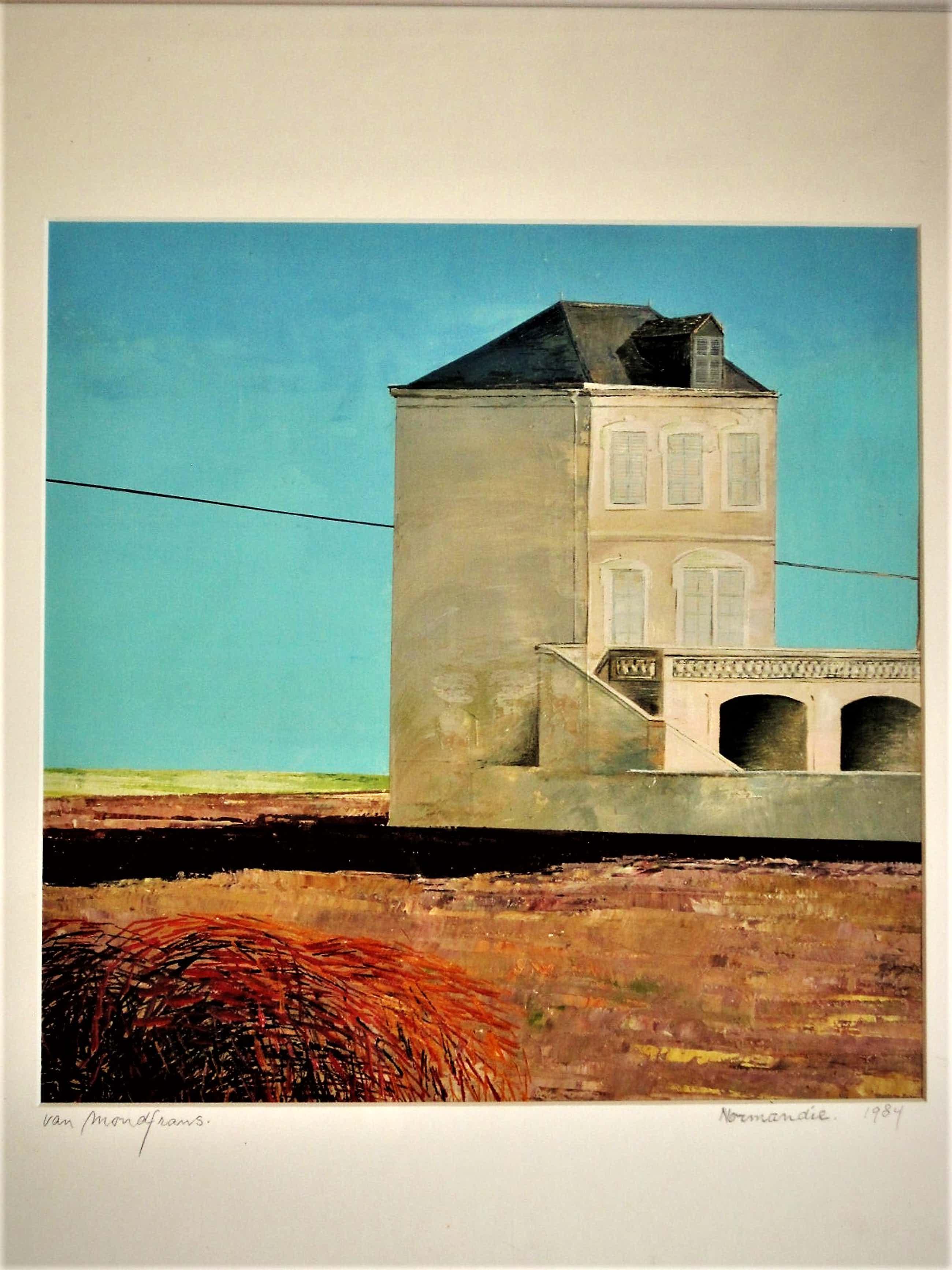 """Erna van Mondfrans - Fraai verstild realistisch olieverf """"Normandie / Frankrijk"""" gesigneerd kopen? Bied vanaf 85!"""