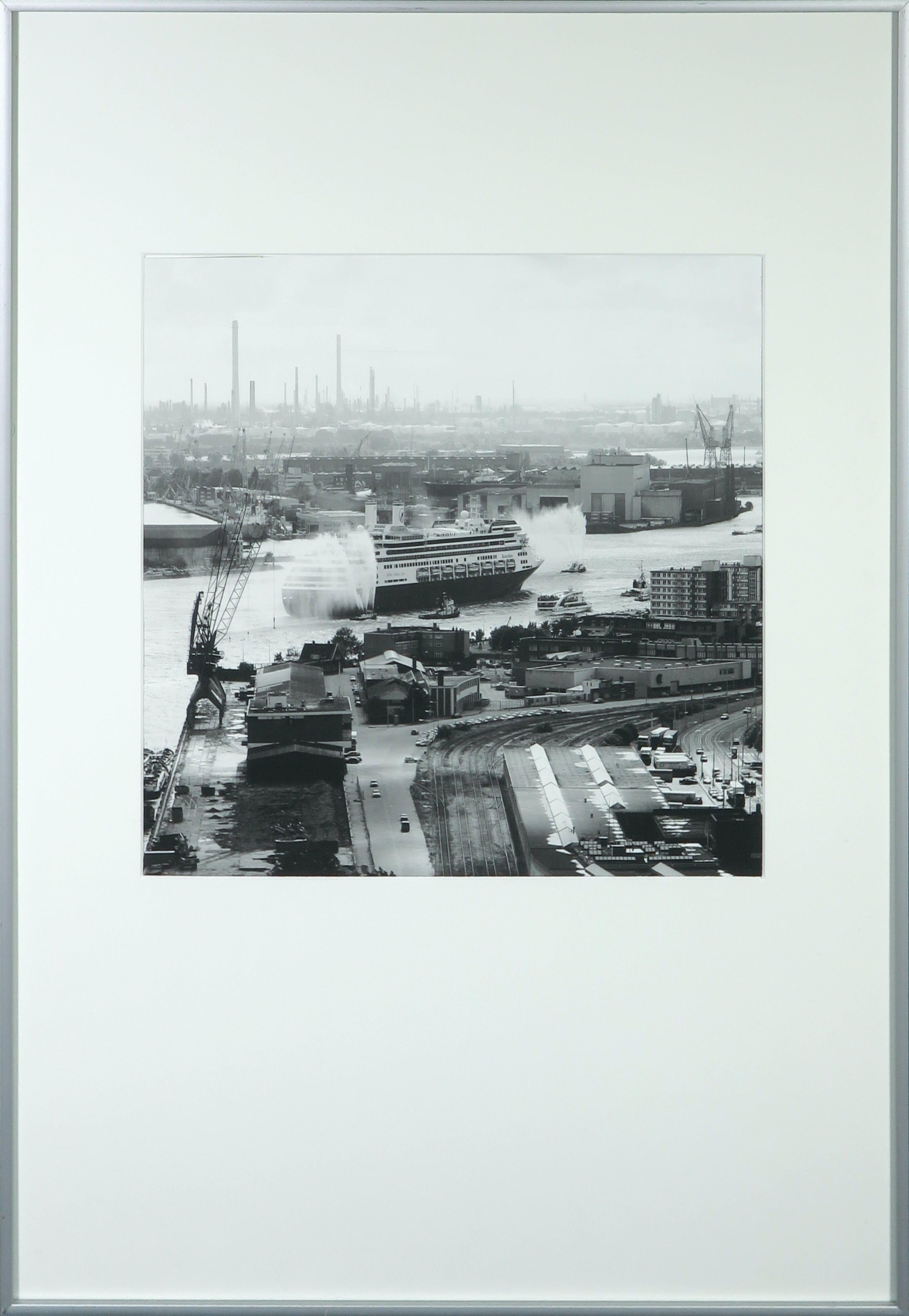 Niet of onleesbaar gesigneerd - Foto, S.S. Rotterdam - Ingelijst kopen? Bied vanaf 1!