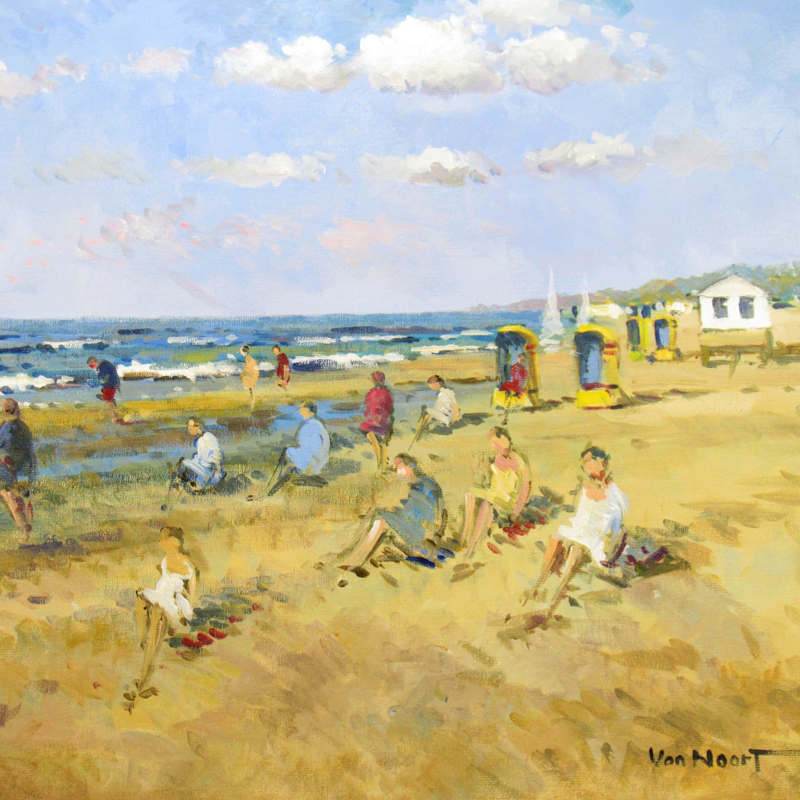 Alexander van Noort - Strandtafereel Zandvoort kopen? Bied vanaf 295!
